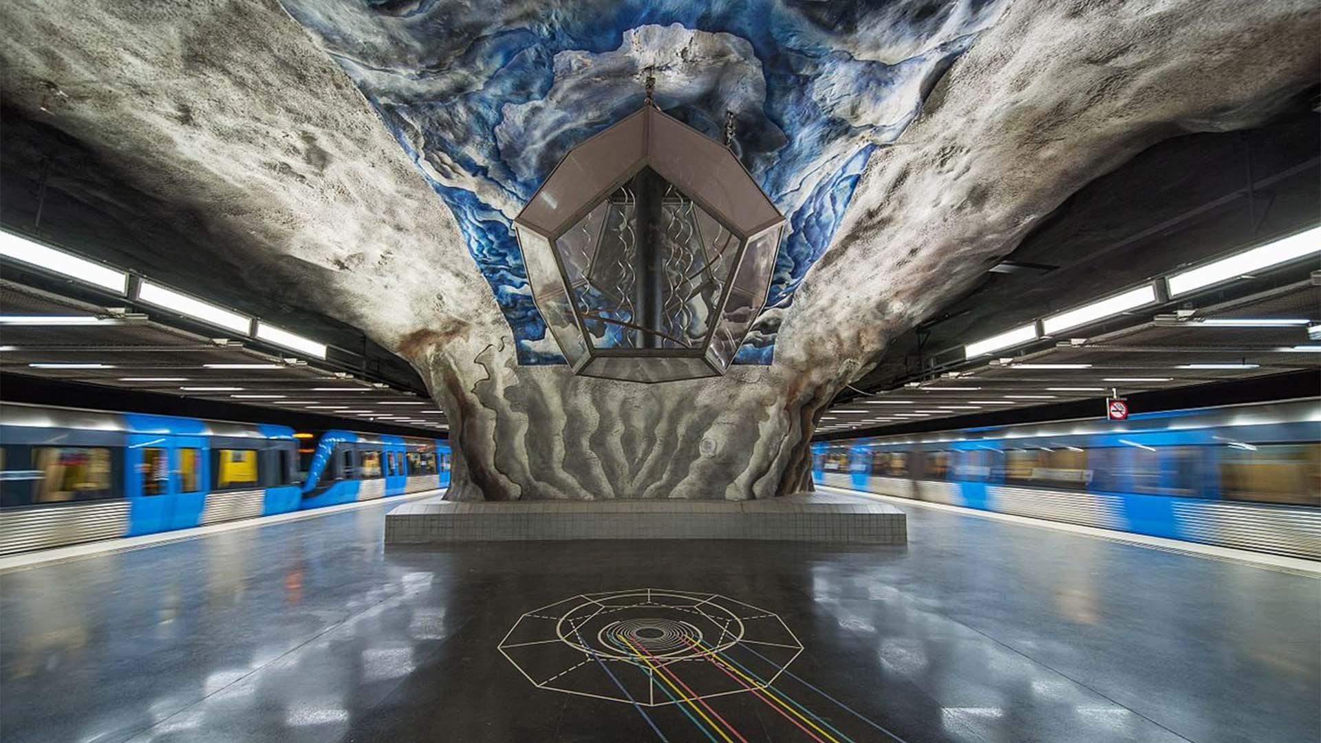 Art at Tekniska Högskolan metro station, Stockholm