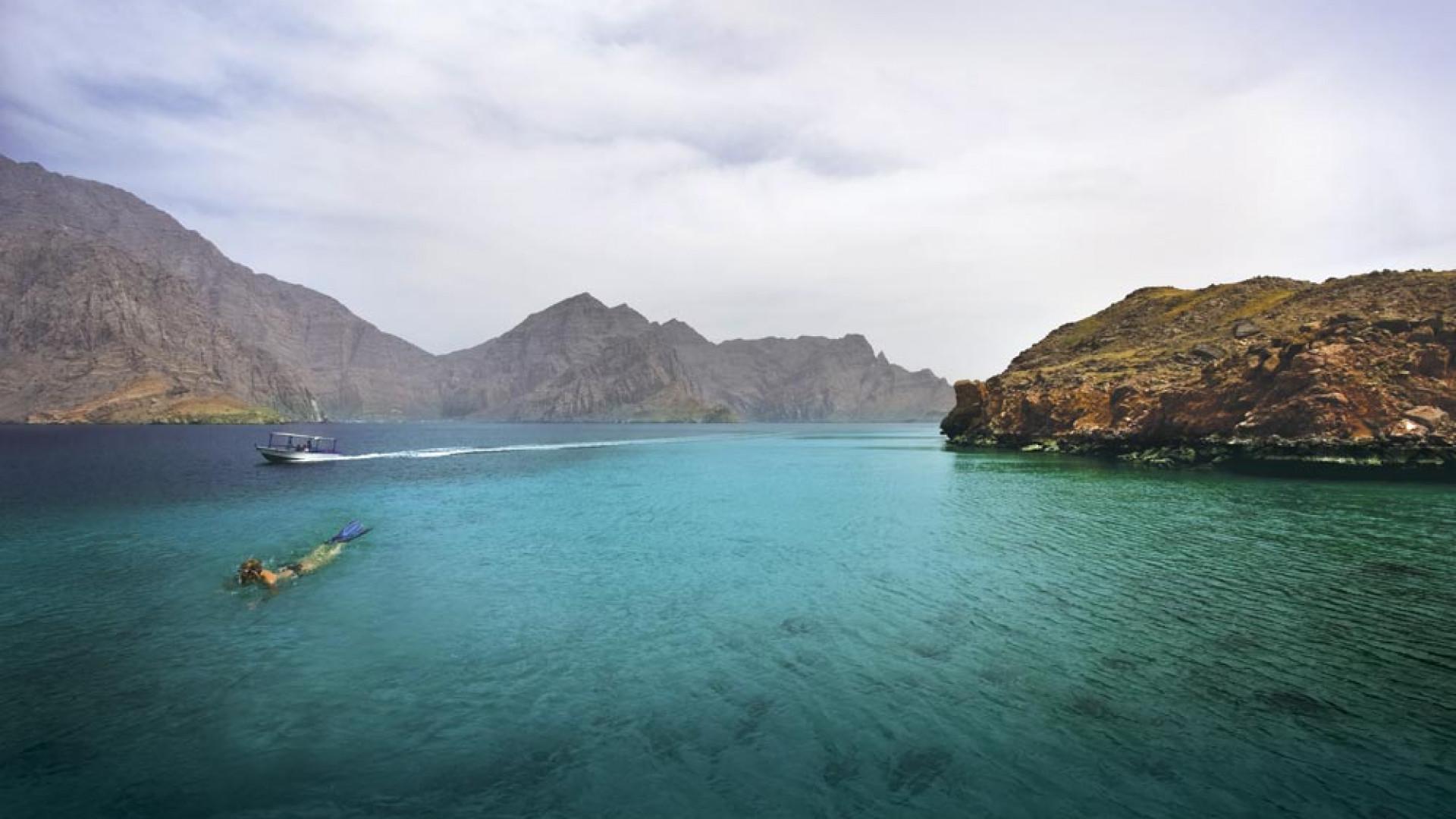 Divers at Bandar Khyran, Oman