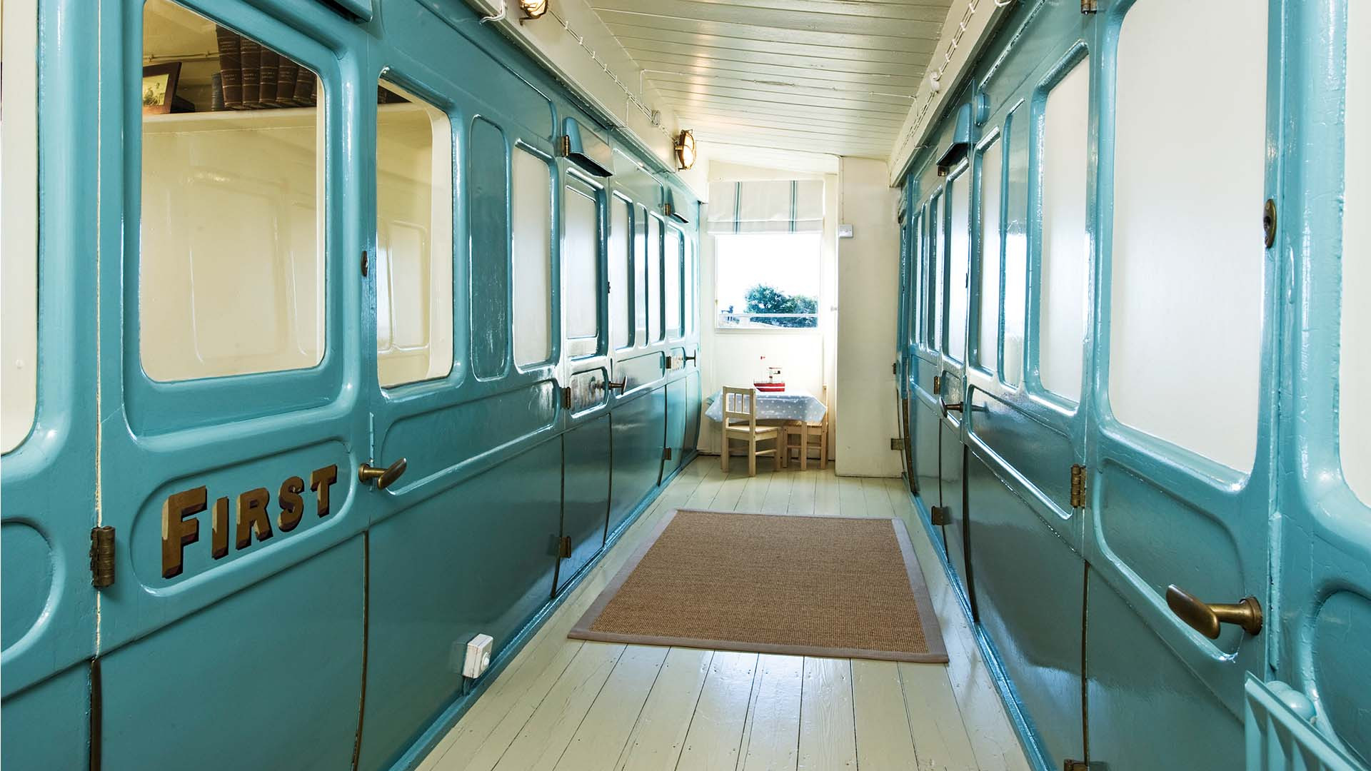 Corridor at Seabank Railways Carriages, Selsey