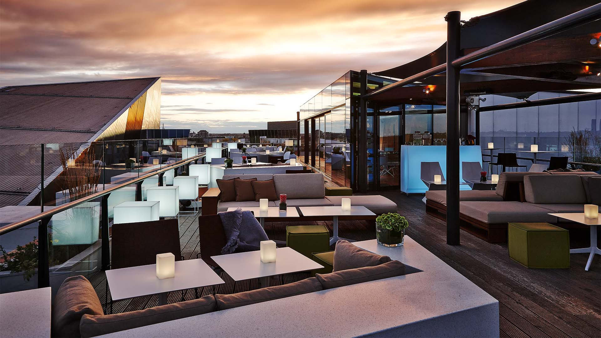 Roof terrace at The Marker Dublin