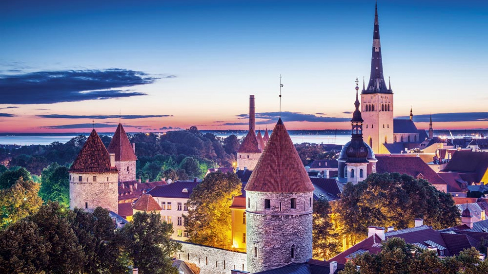 Tallin skyline, Estonia