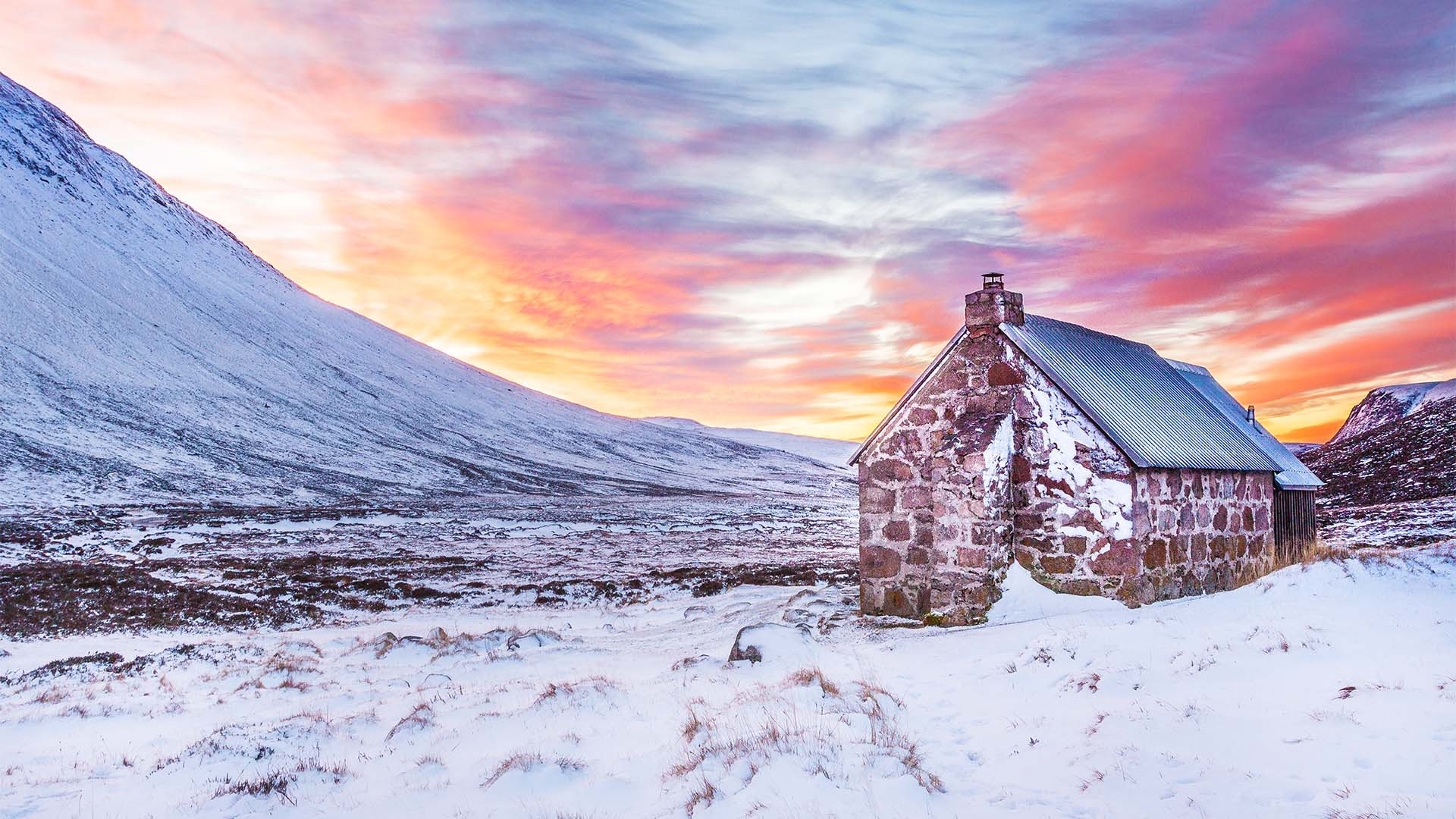 Bothy in the Scottish highlands