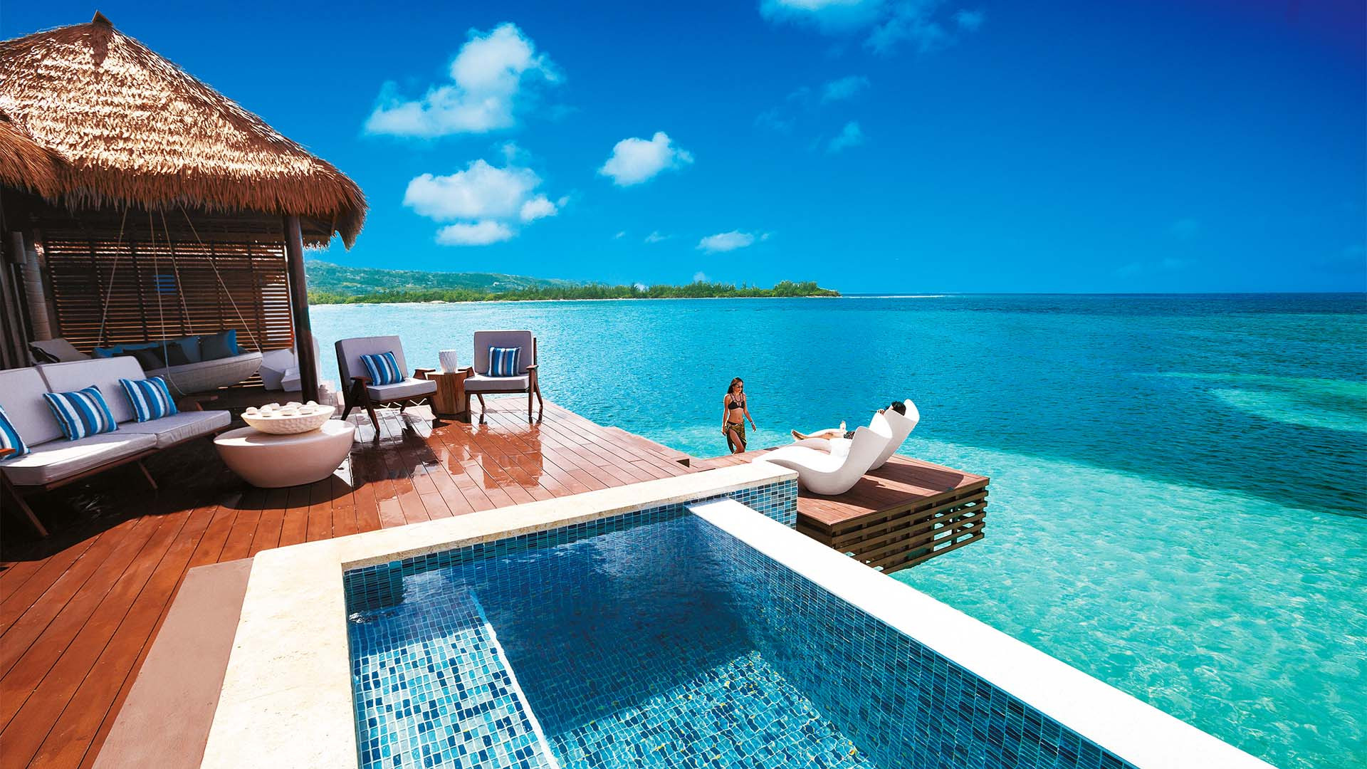 Over water villas at Sandals