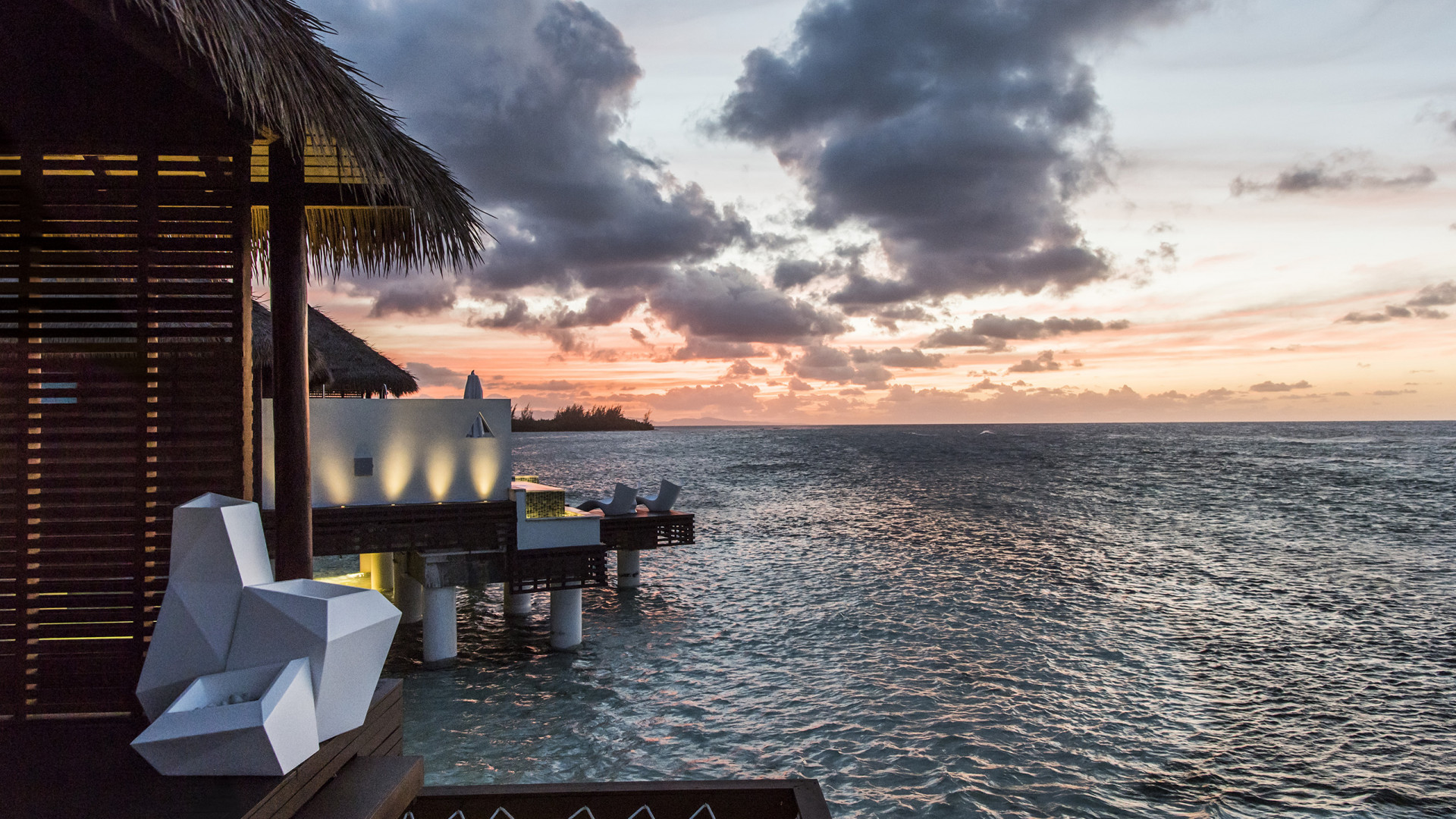 Over-the-water villas at Sandals Royal Caribbean