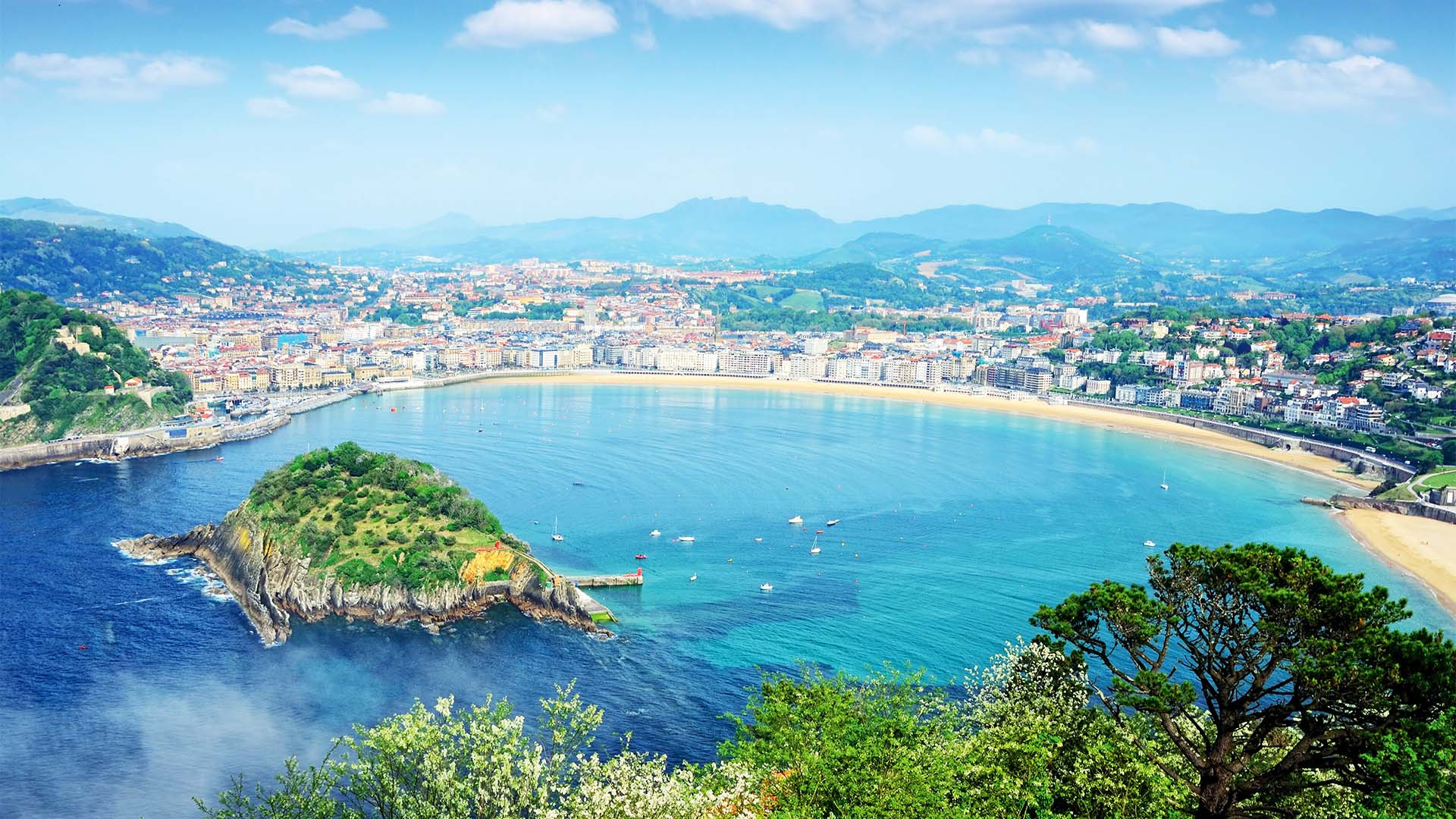 San Sebastian coastal view, Spain