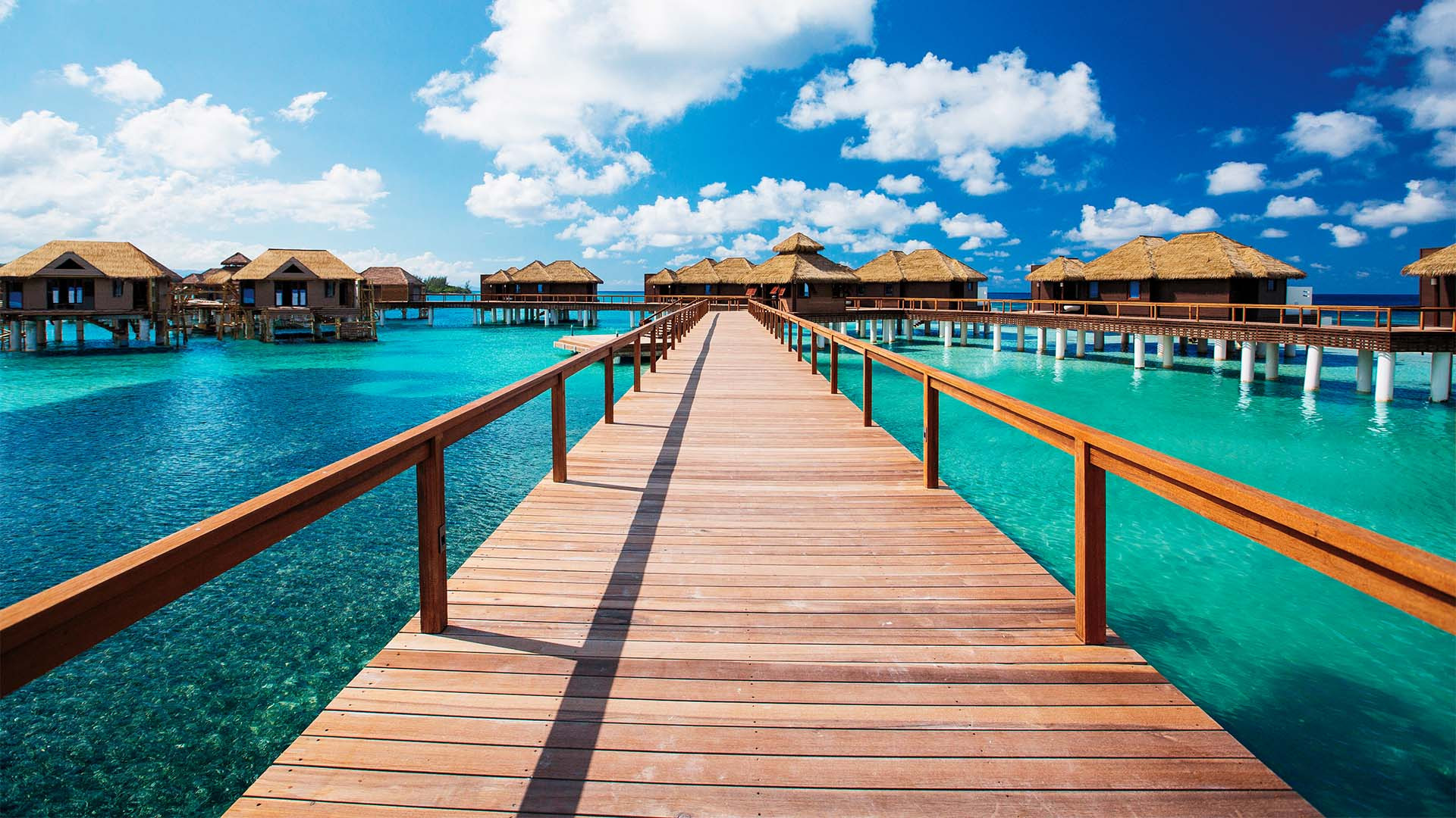 Over the water villas at Sandals Royal Caribbean