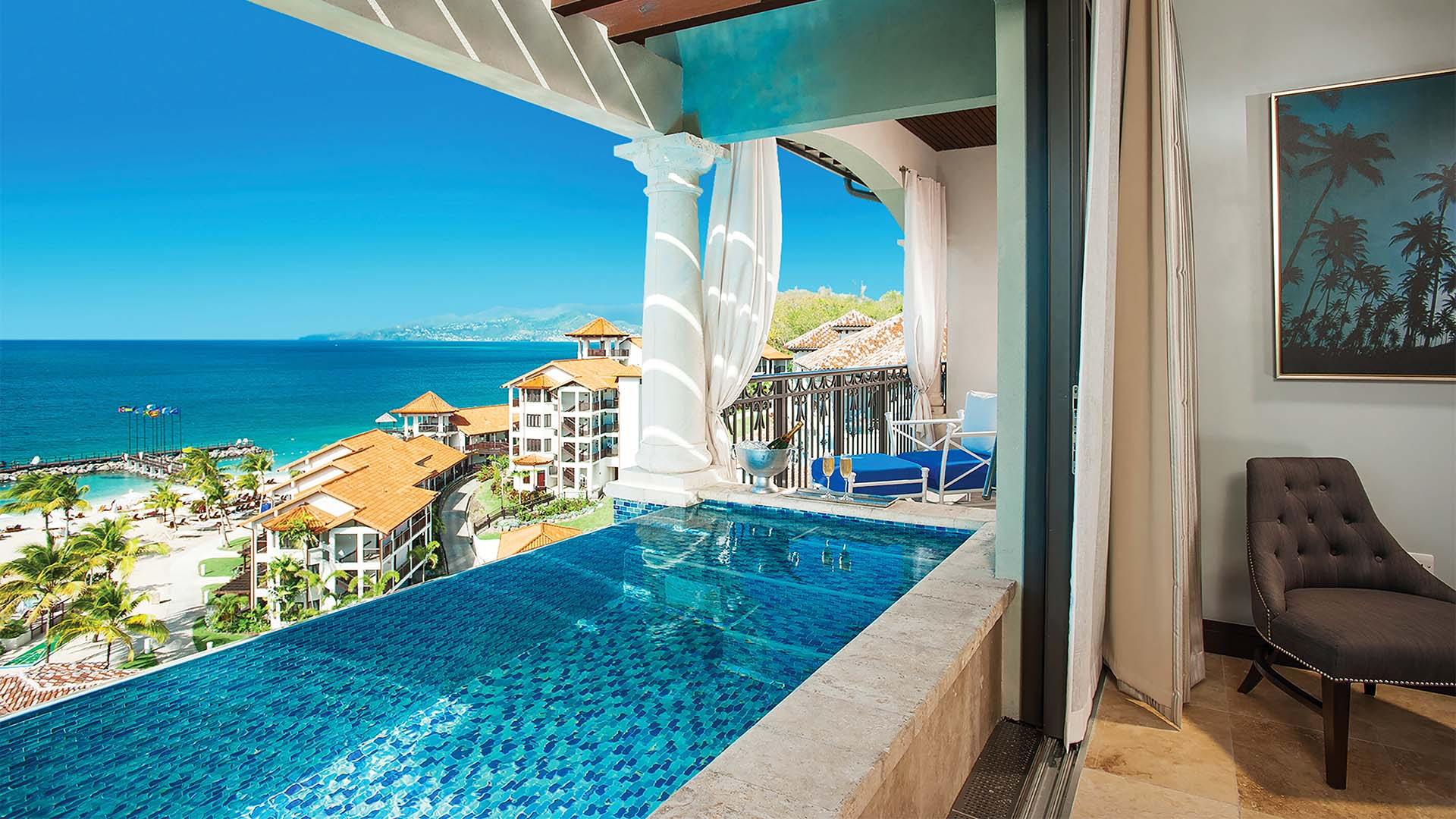 Infinity-edge pool at Sandals LaSource Grenada