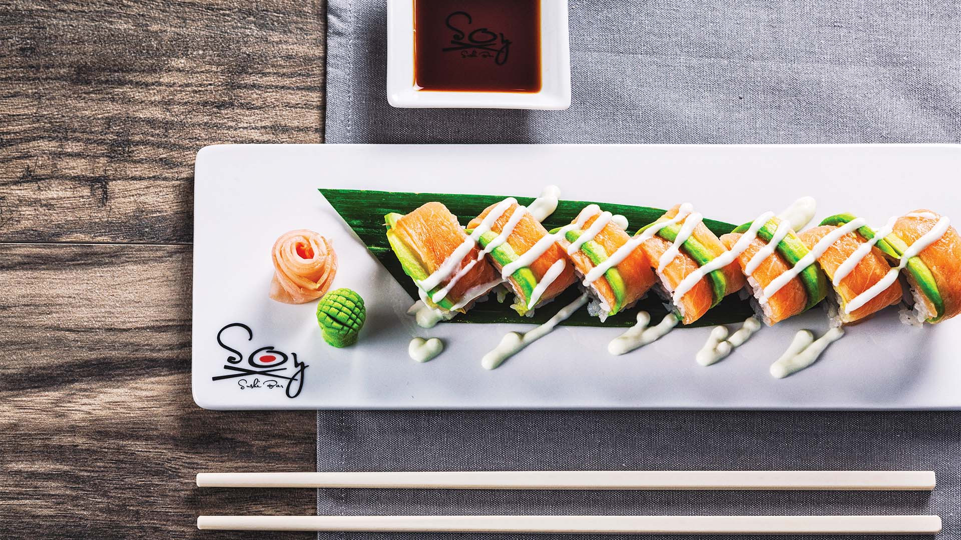 Soy sushi at Sandals resorts