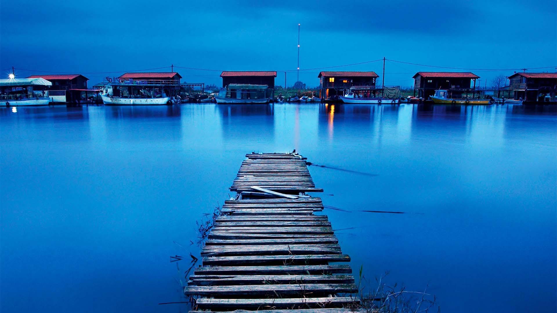 Fisherman's huts Thessaloniki, Greece