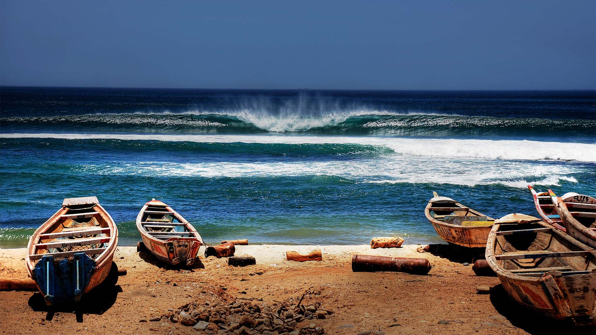 Boats on the Senegalese coast