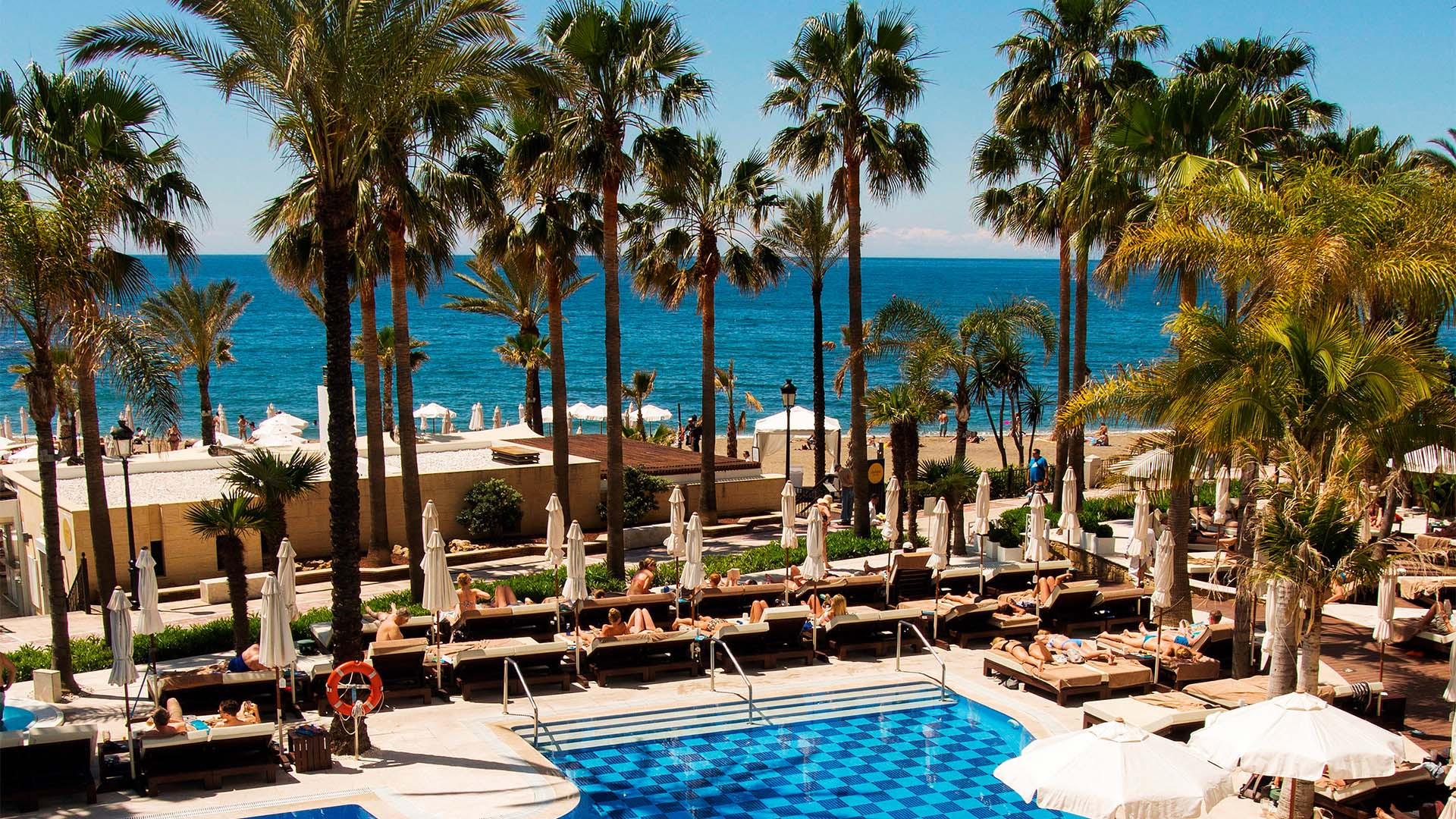 Beach resort in Marbella, Spain