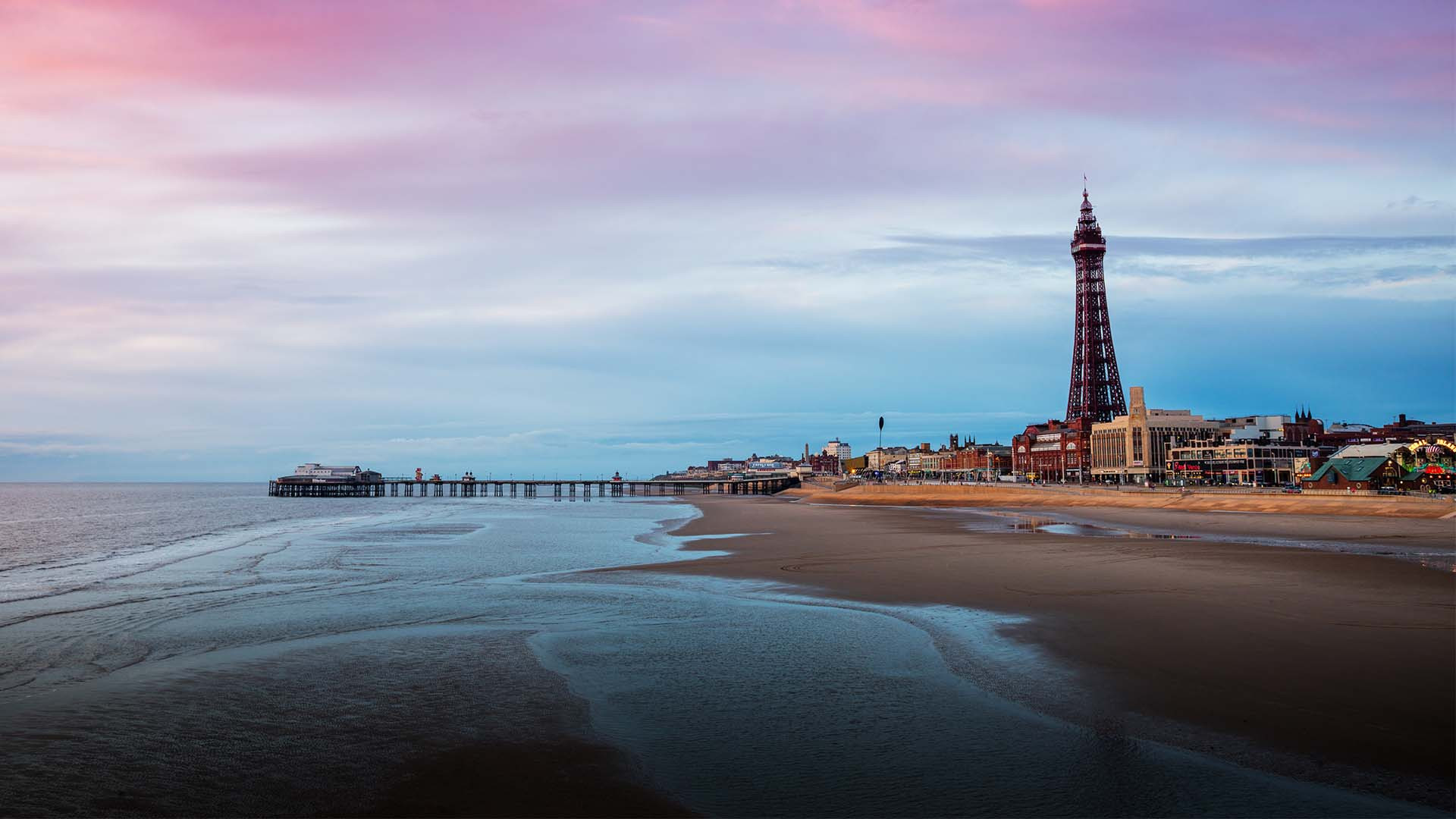 Blackpool Beach, Lancashire, UK