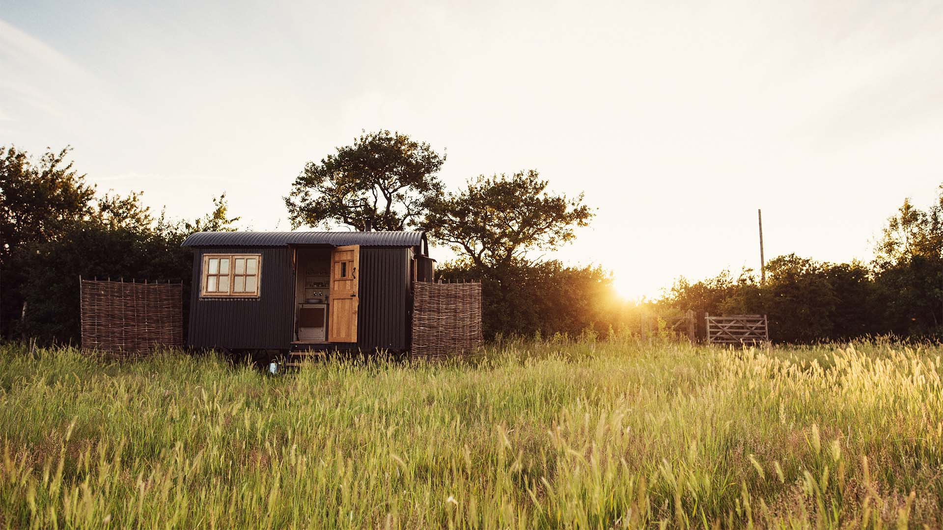 Shepherd's hut at Elmley Nature Reserve, Kent