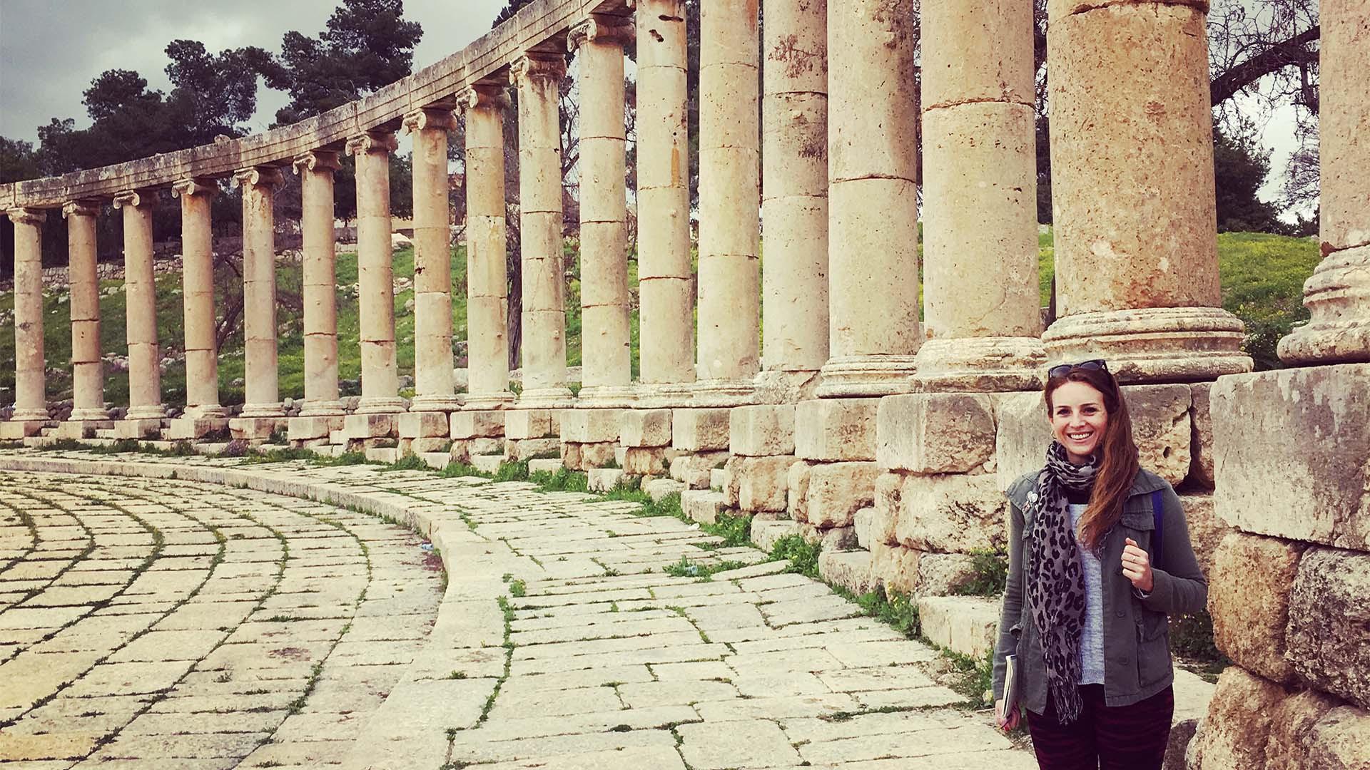 Hannah Summers in Jerash, Jordan