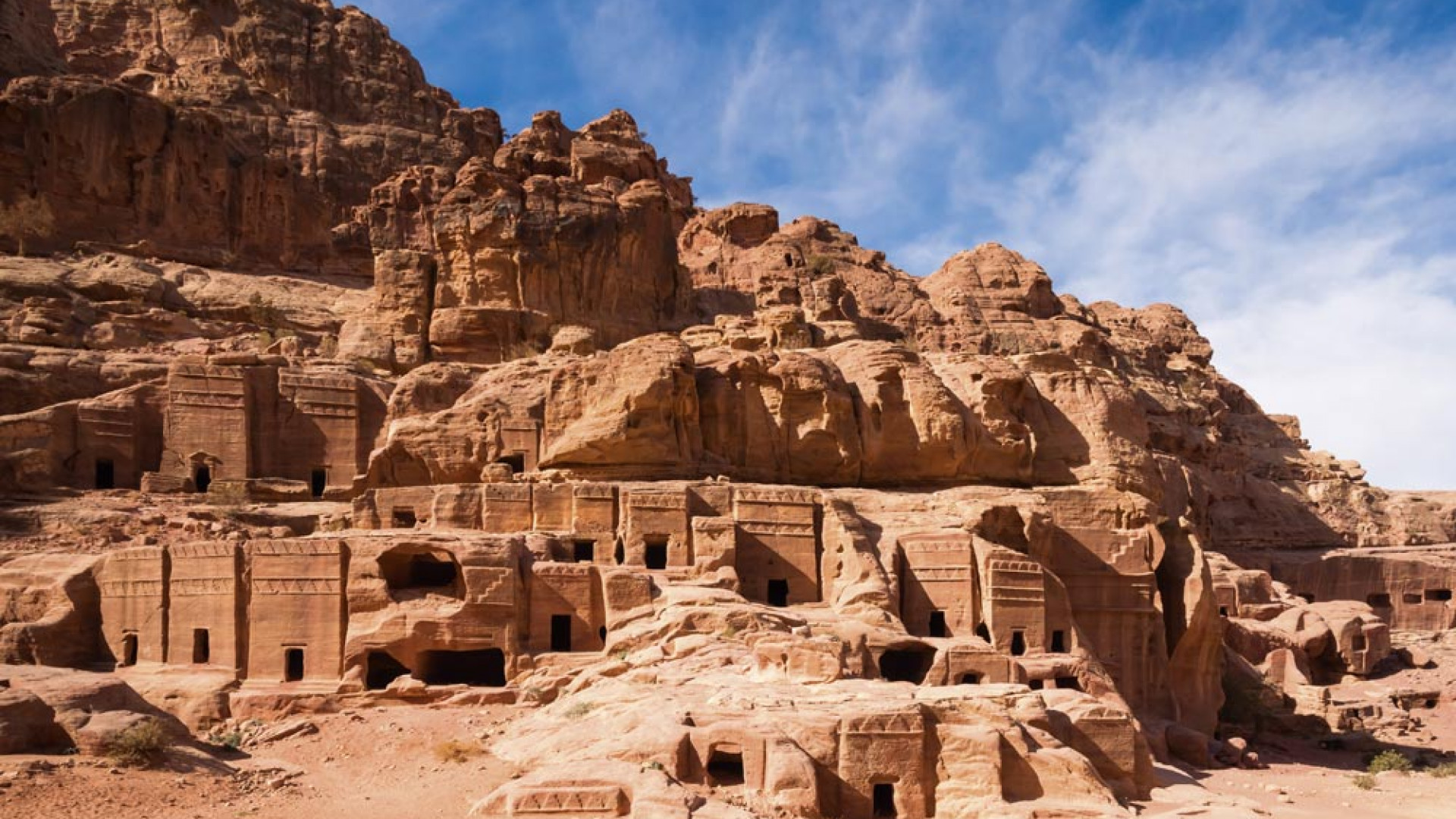 Facades of homes in ancient Petra