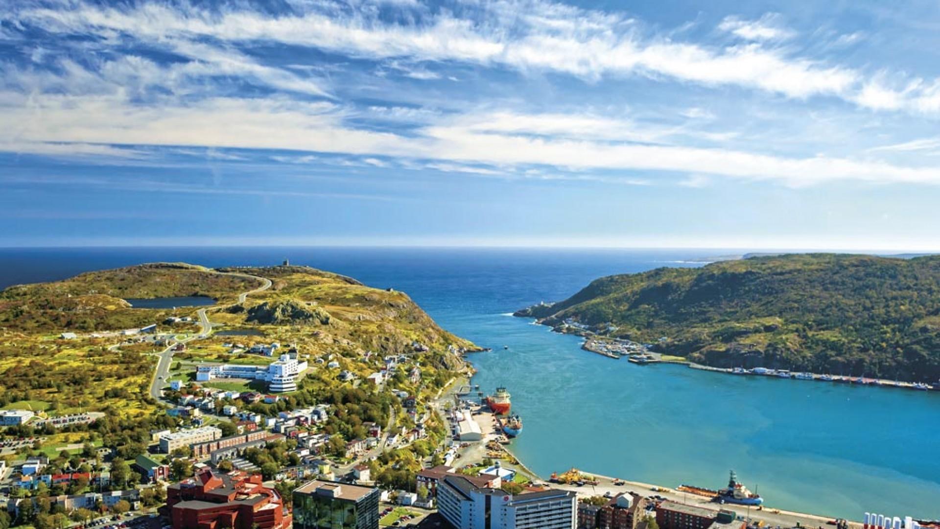 Aerial view of St. John's Newfoundland and Labrador, Canada