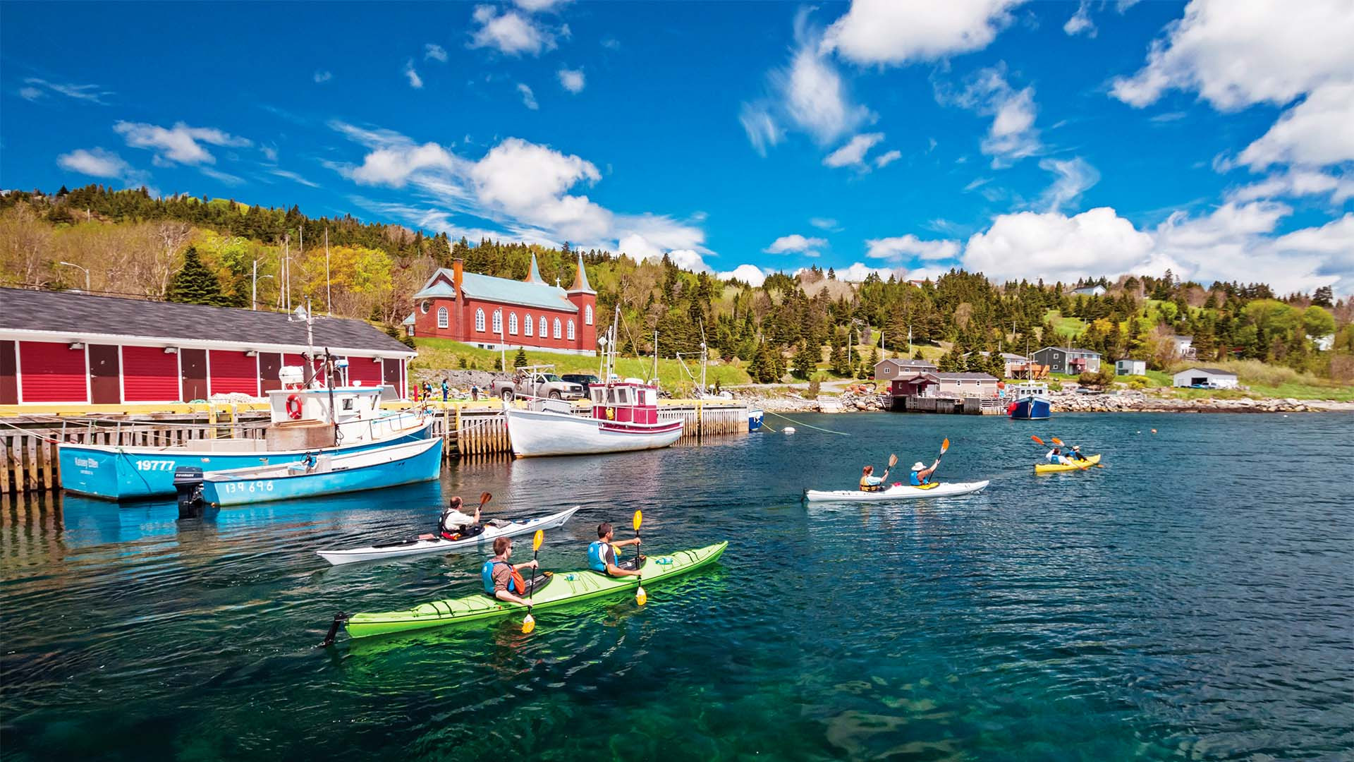 Kayaking the coast of Newfoundland & Labrador, Canada