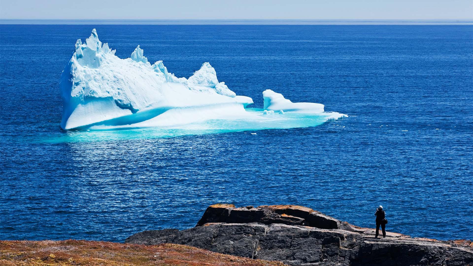Iceberg outside of St John's Newfoundland
