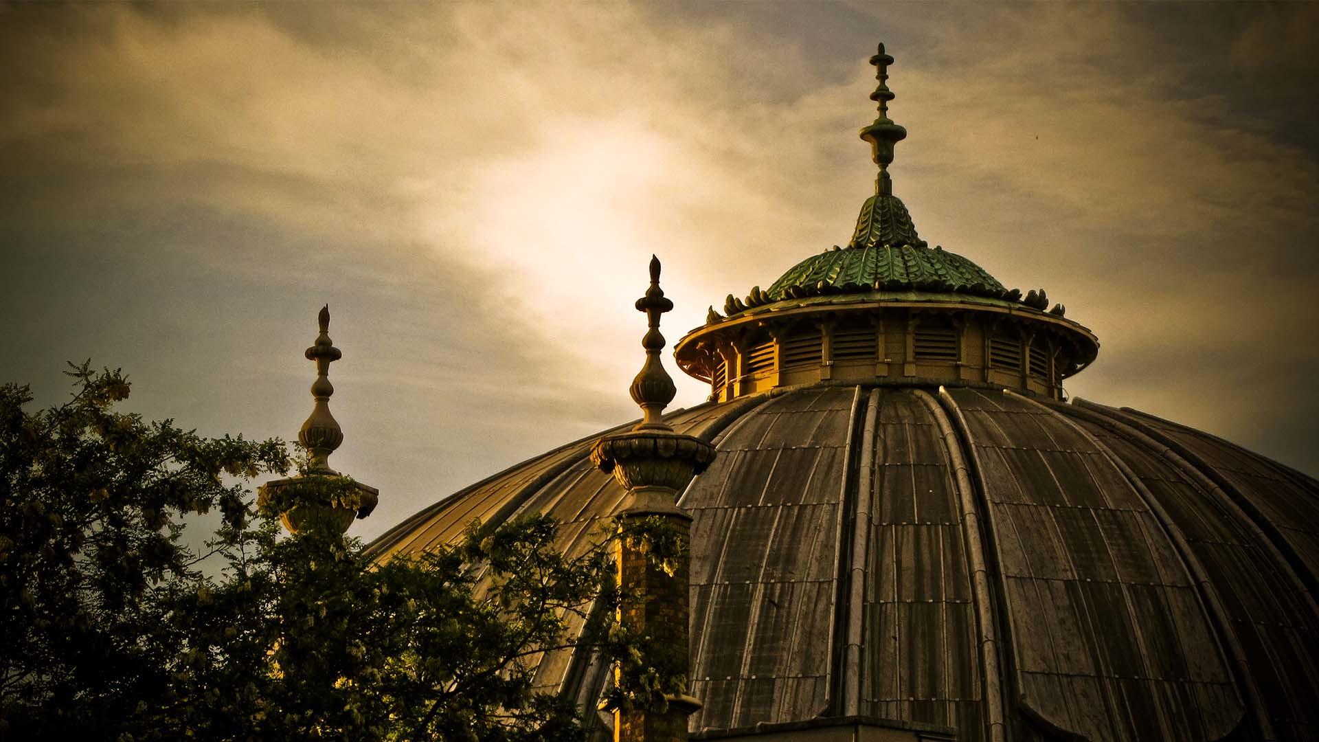 Brighton Dome at sunset