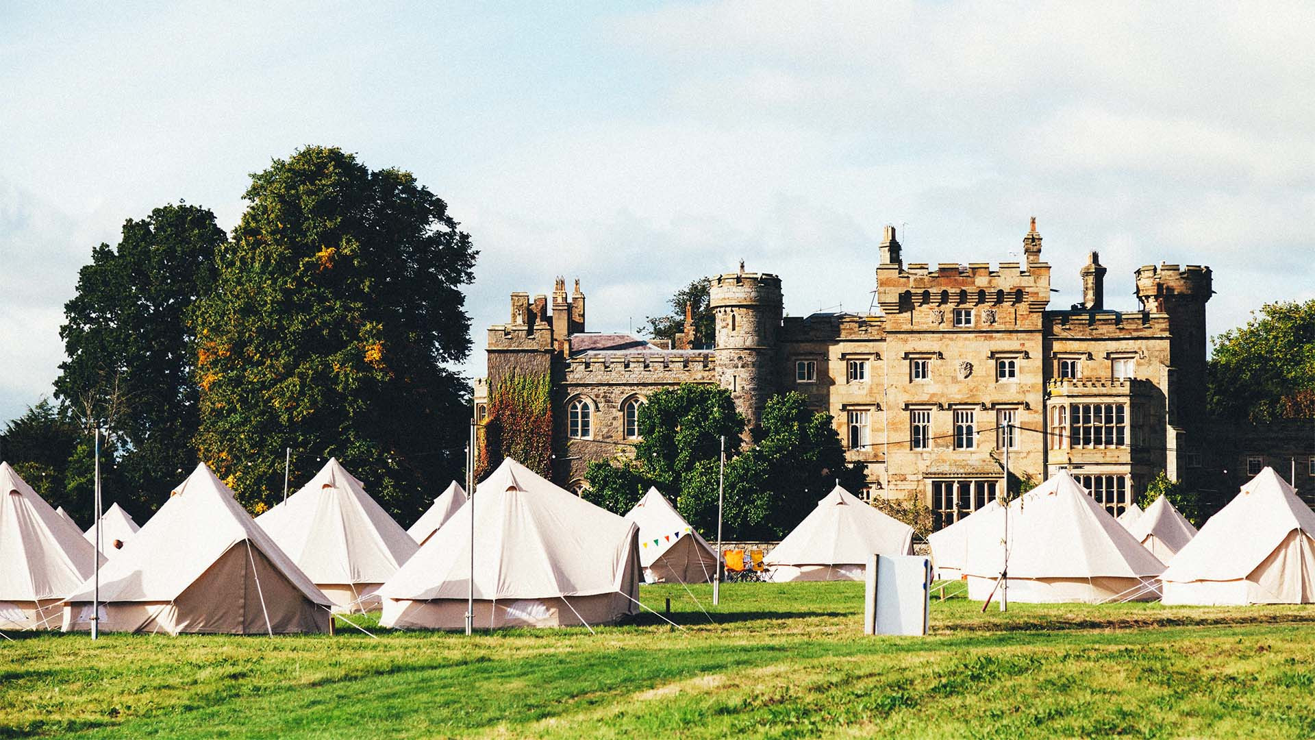 Camping at The Good Life Experience festival in Flintshire, Wales