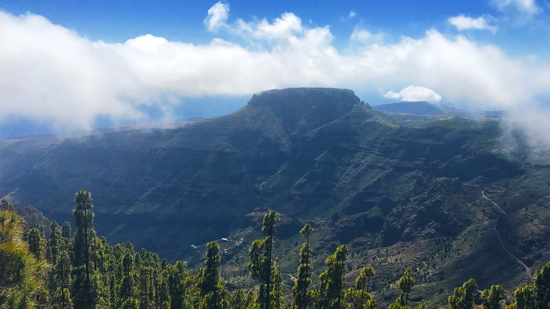 View from Mirador de Igualero in La Gomera, Canary Islands