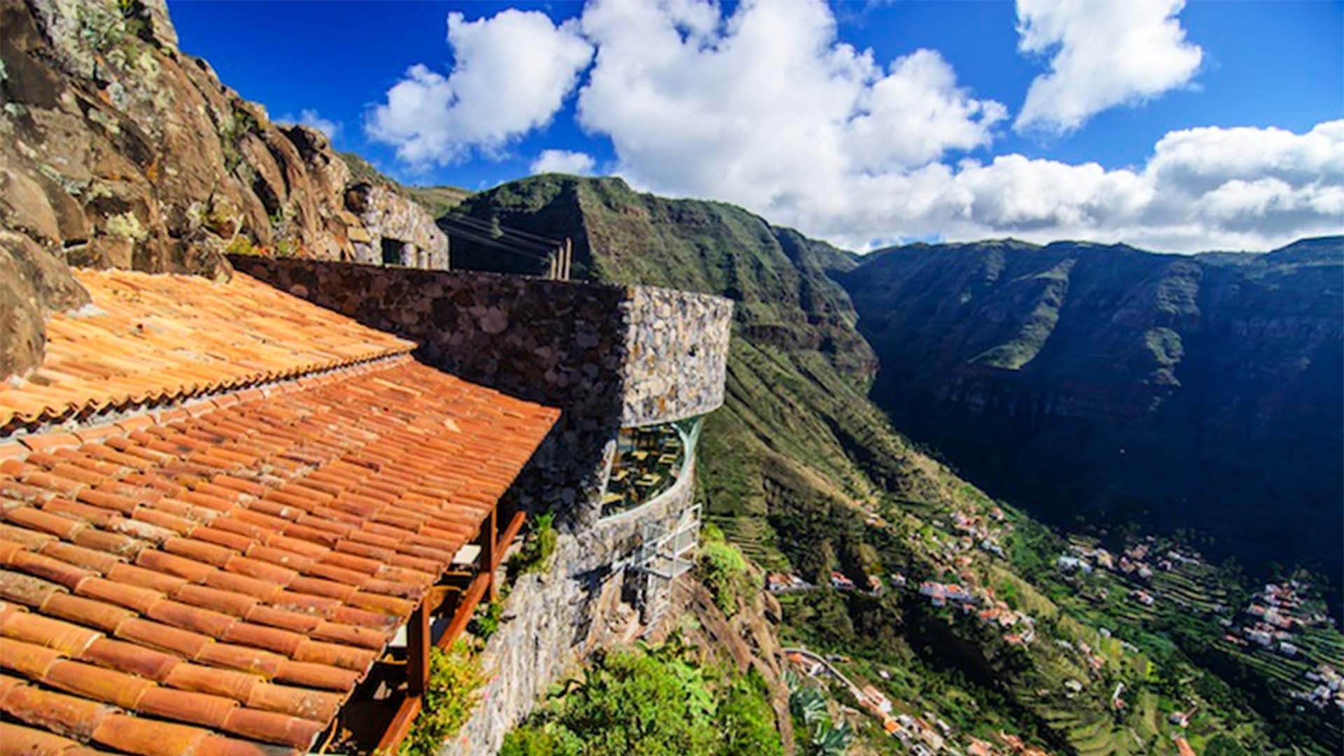 View from Mirador del Palmarejo in western La Gomera, Canary Islands