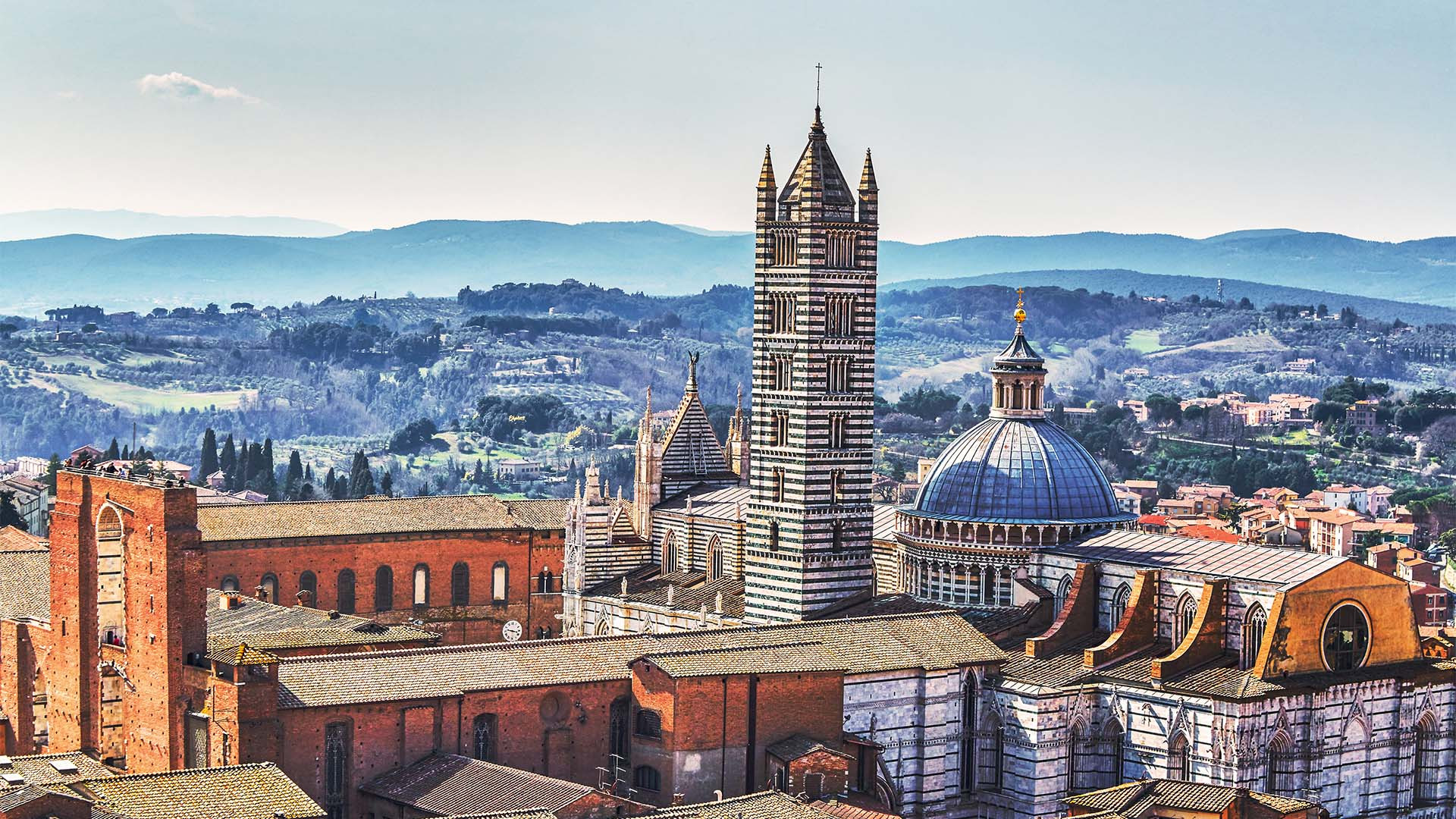 Rooftops and the Duomo, Siena, Italy