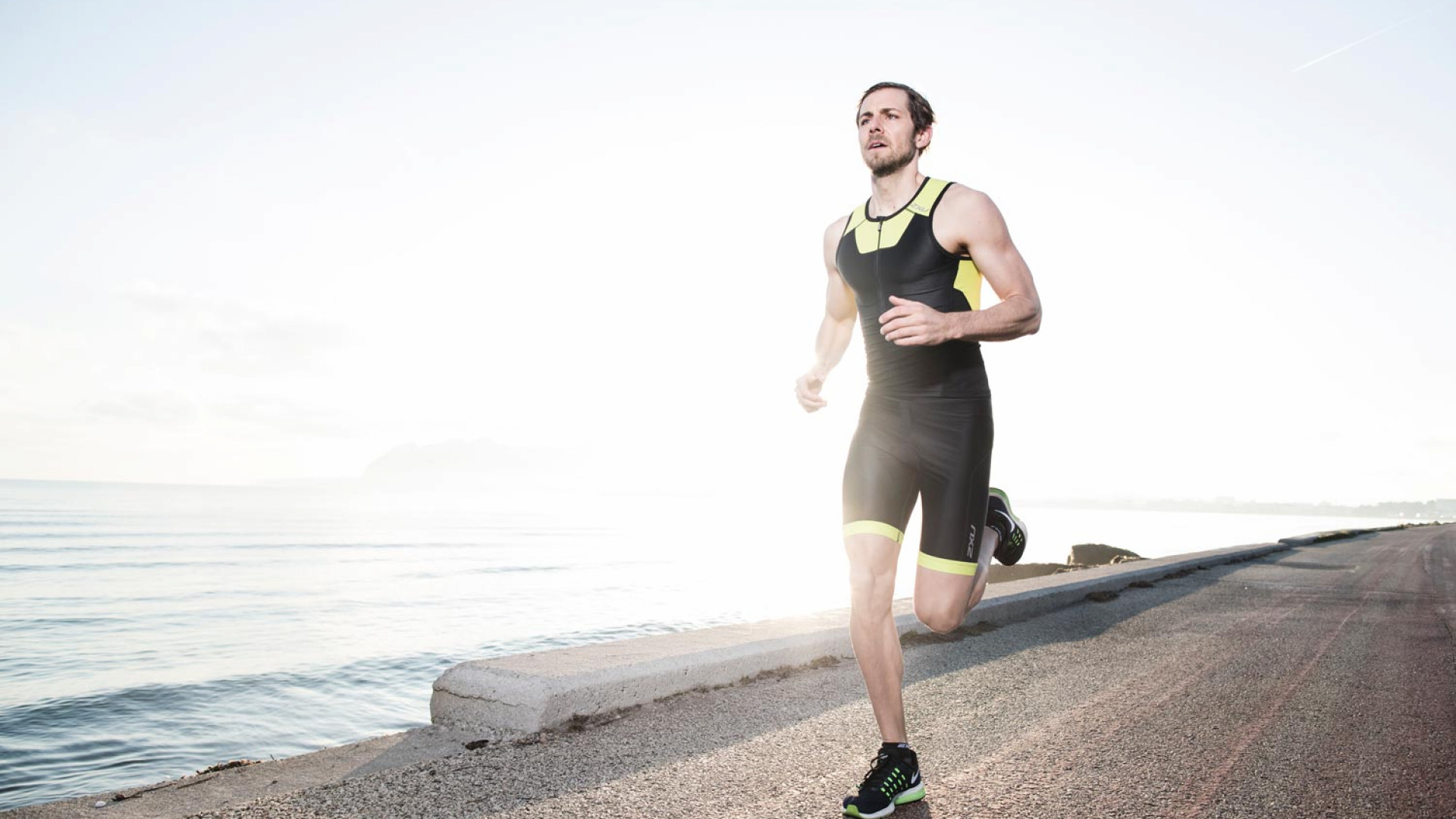 Male runner in 2XU compression garments