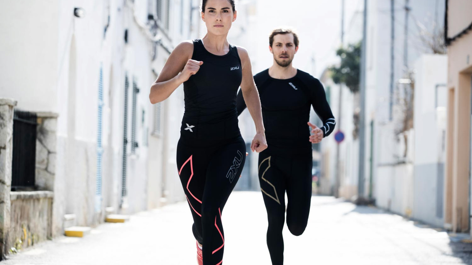 Runners in 2XU compression garments