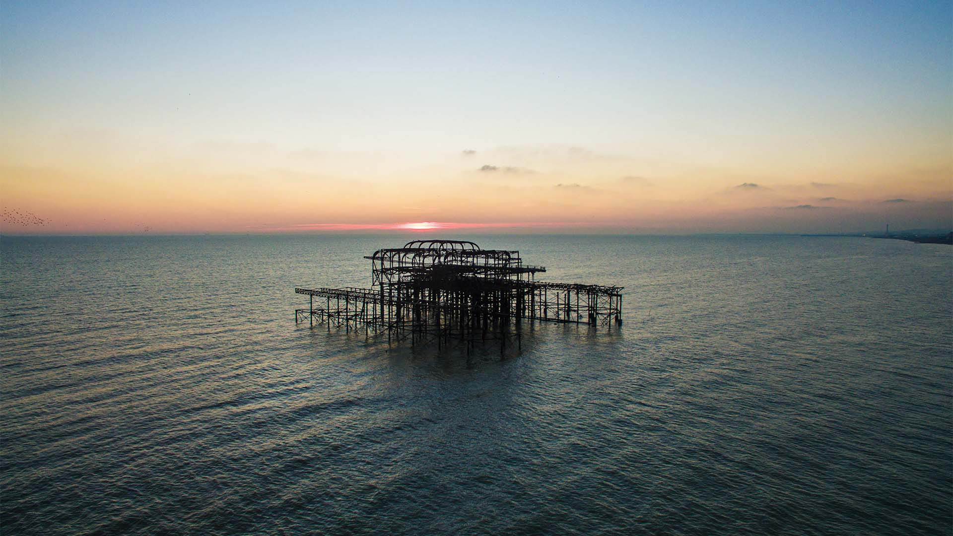 West Pier Brighton drone photo from Drone Photography Masterclass