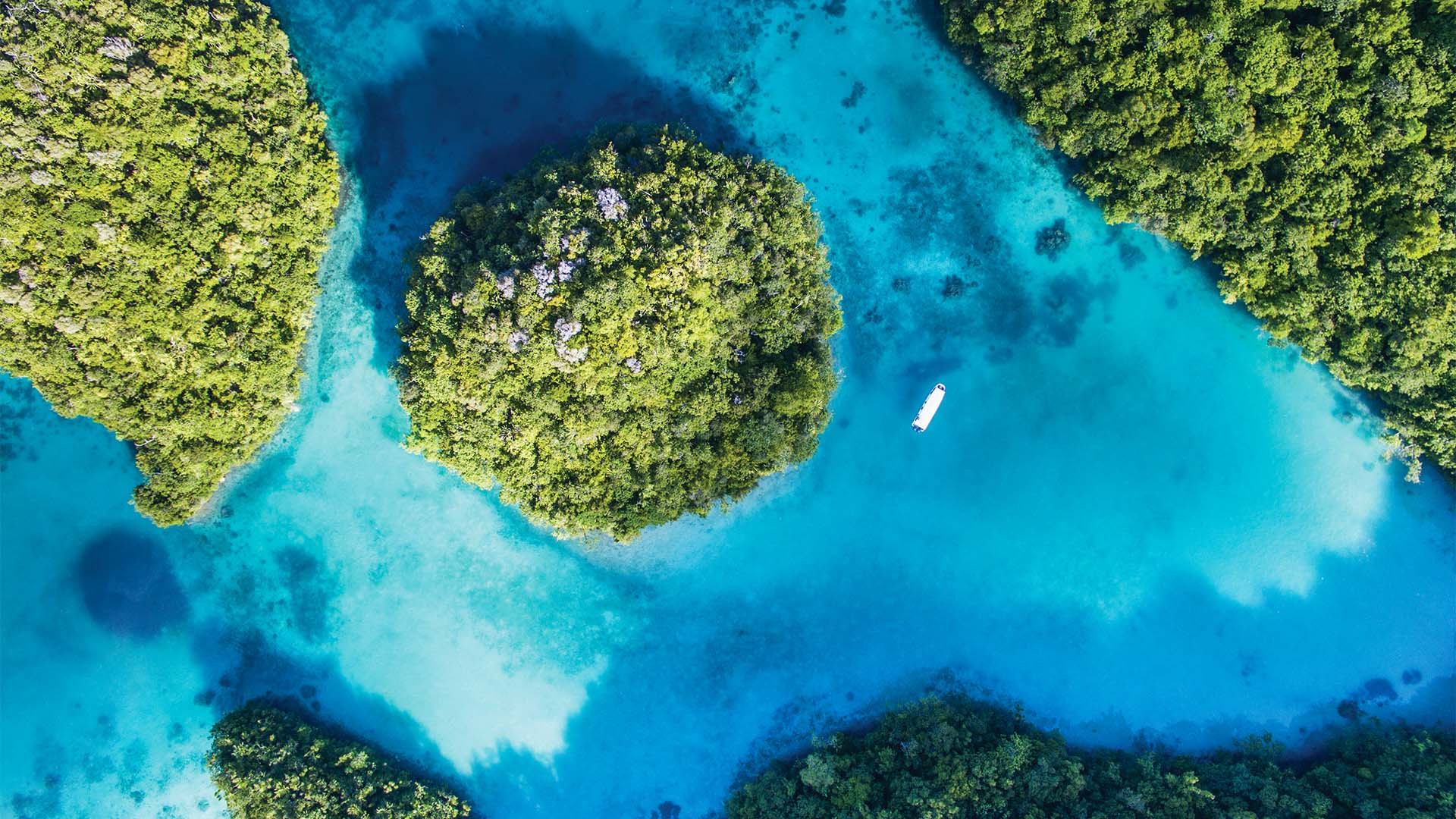 Aerial drone photo of islands in Palau from Drone Photography Masterclass