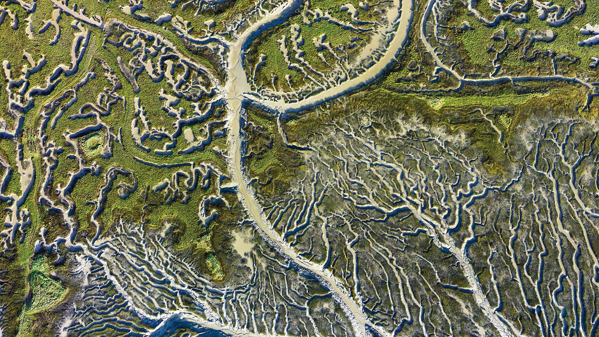 River delta from above, taken from Drone Photography Masterclass