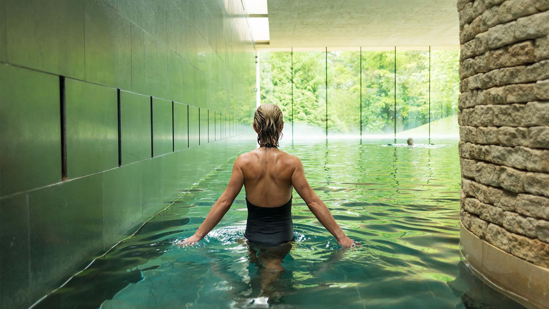 Cowley Manor indoor pool, Gloucestershire