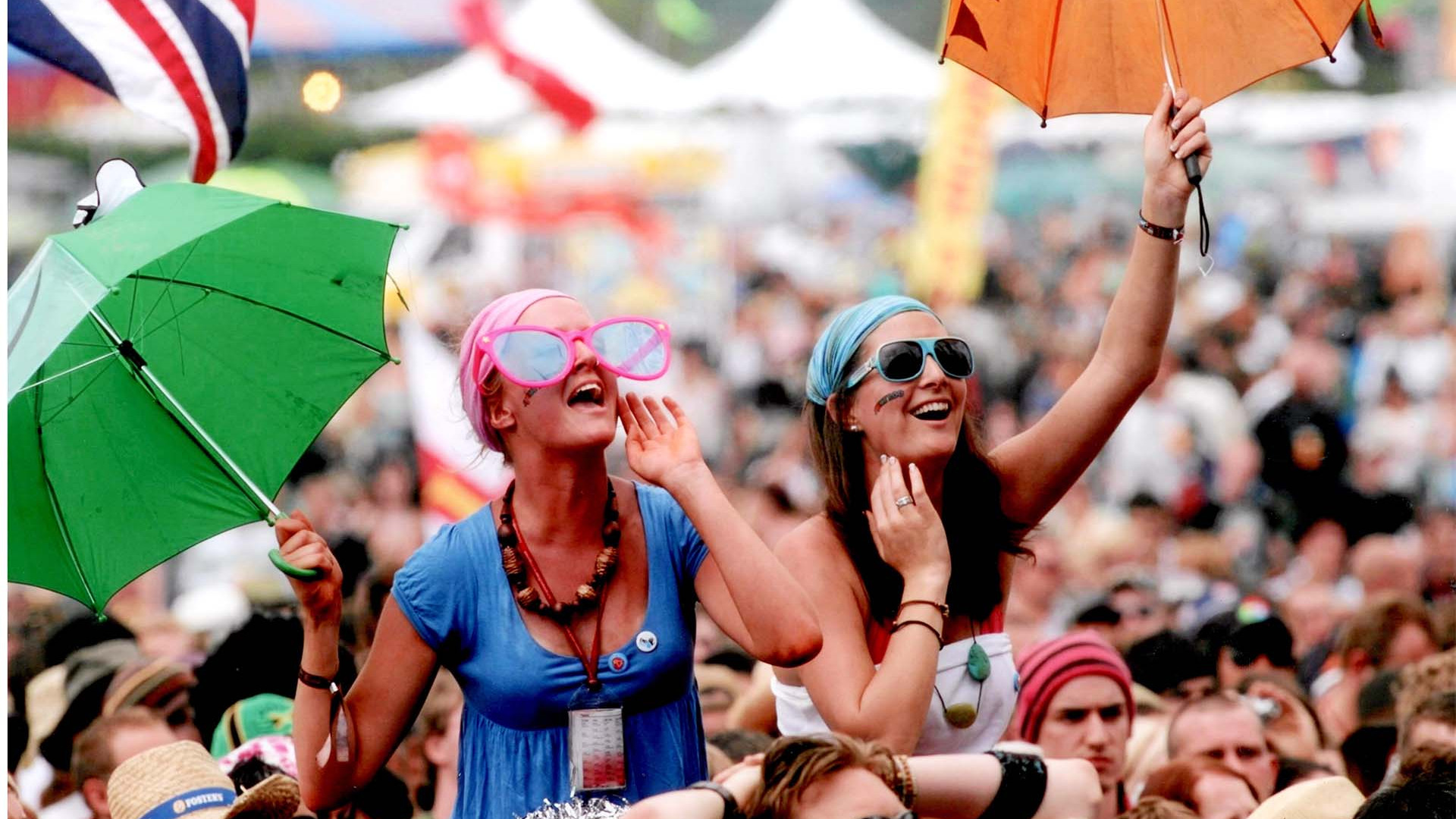 Revellers at Isle of Wight festival
