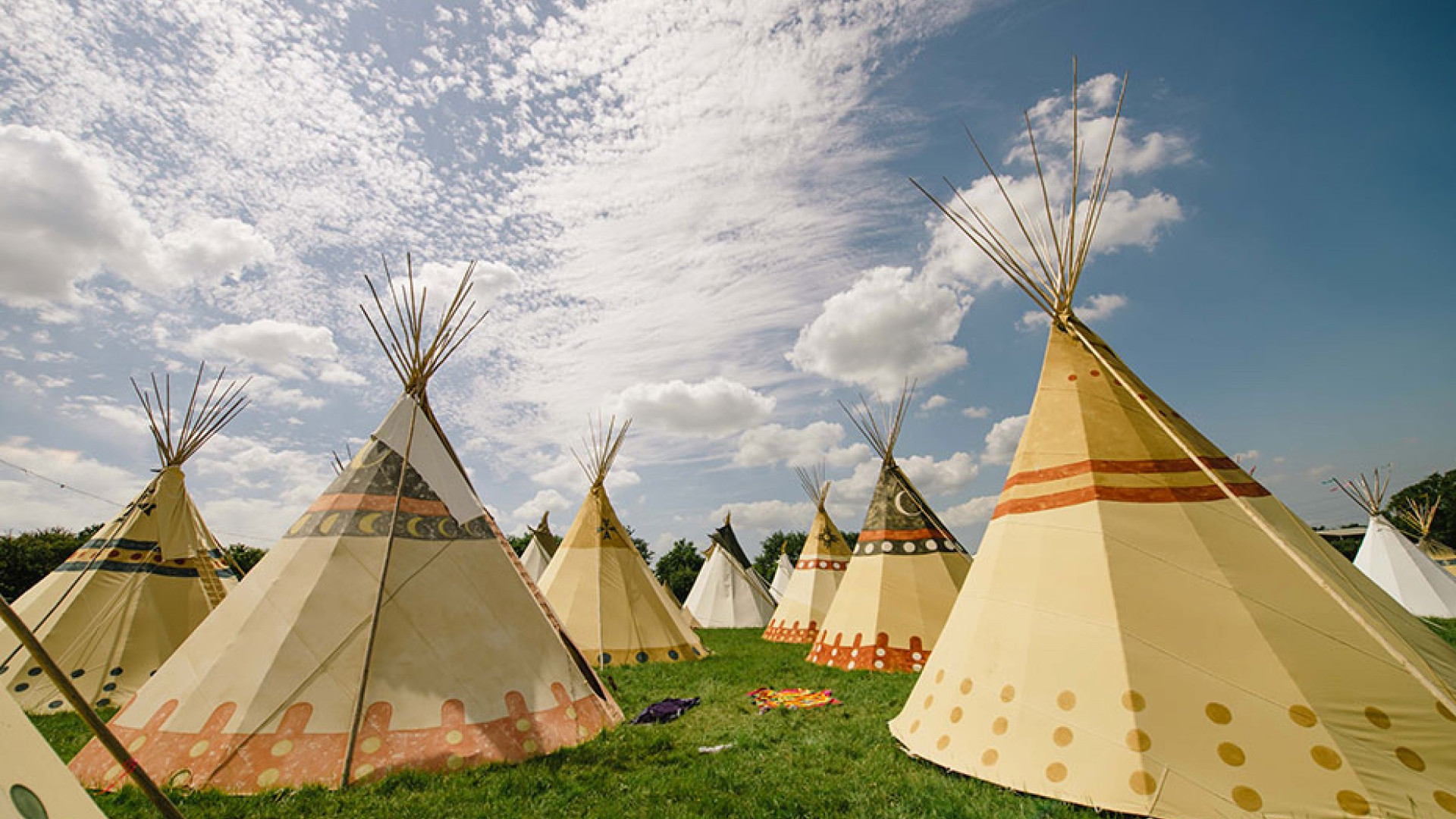 Tipis at Isle of Wight festival