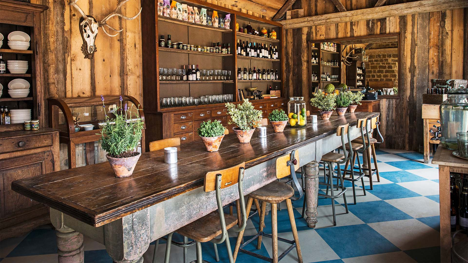 The dining room at Soho Farmhouse, near Chipping Norton
