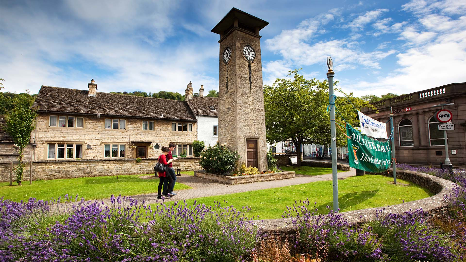 The clock tower in Nailsworth, near Stroud in thre Cotswolds