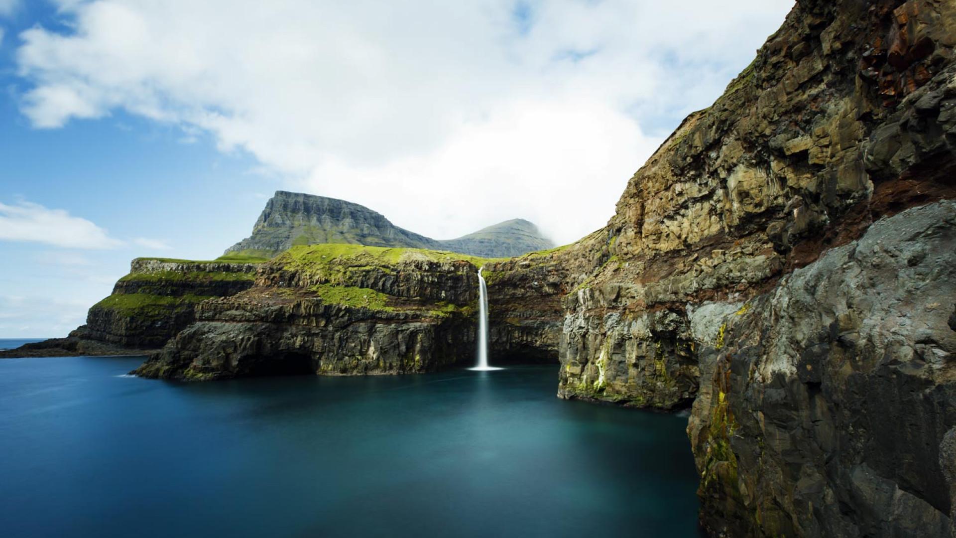 The Mulafossur waterfall, Faroe Islands
