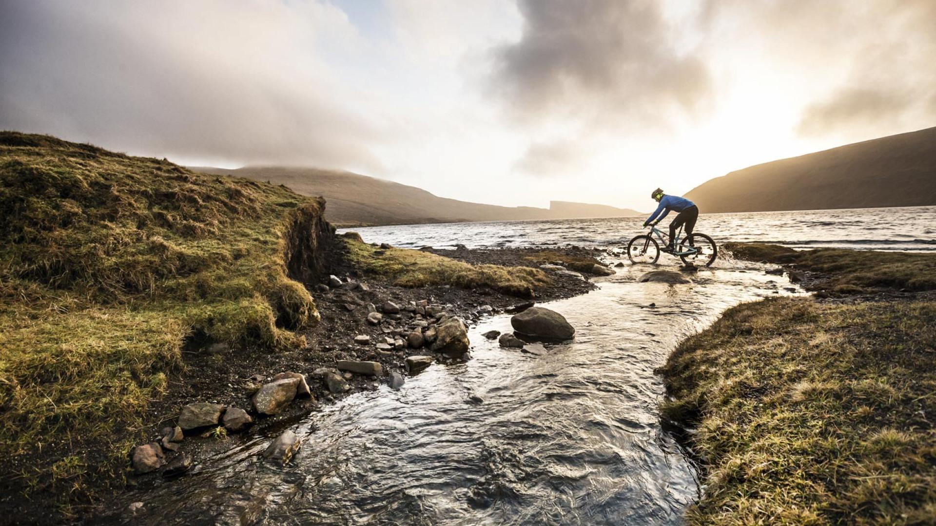 Mountain biking in the Faroe Islands