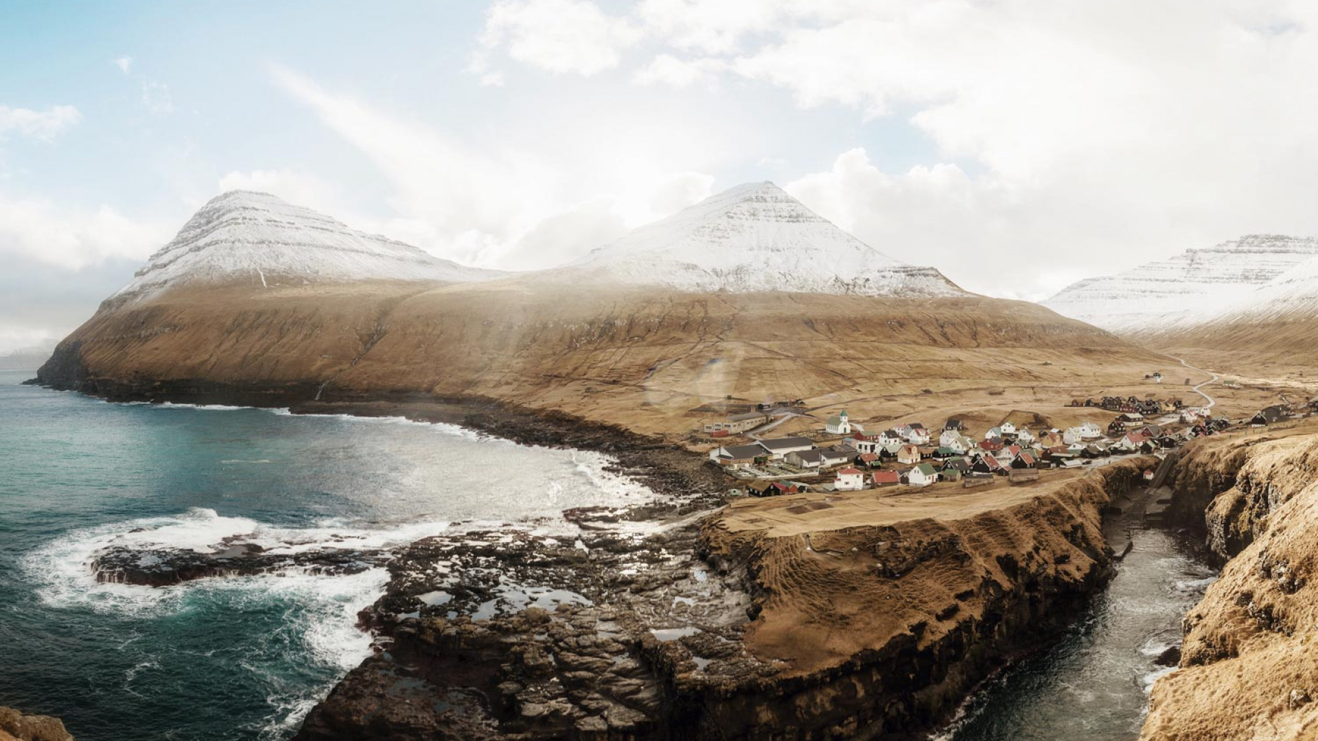 A remote village in the Faroe Islands