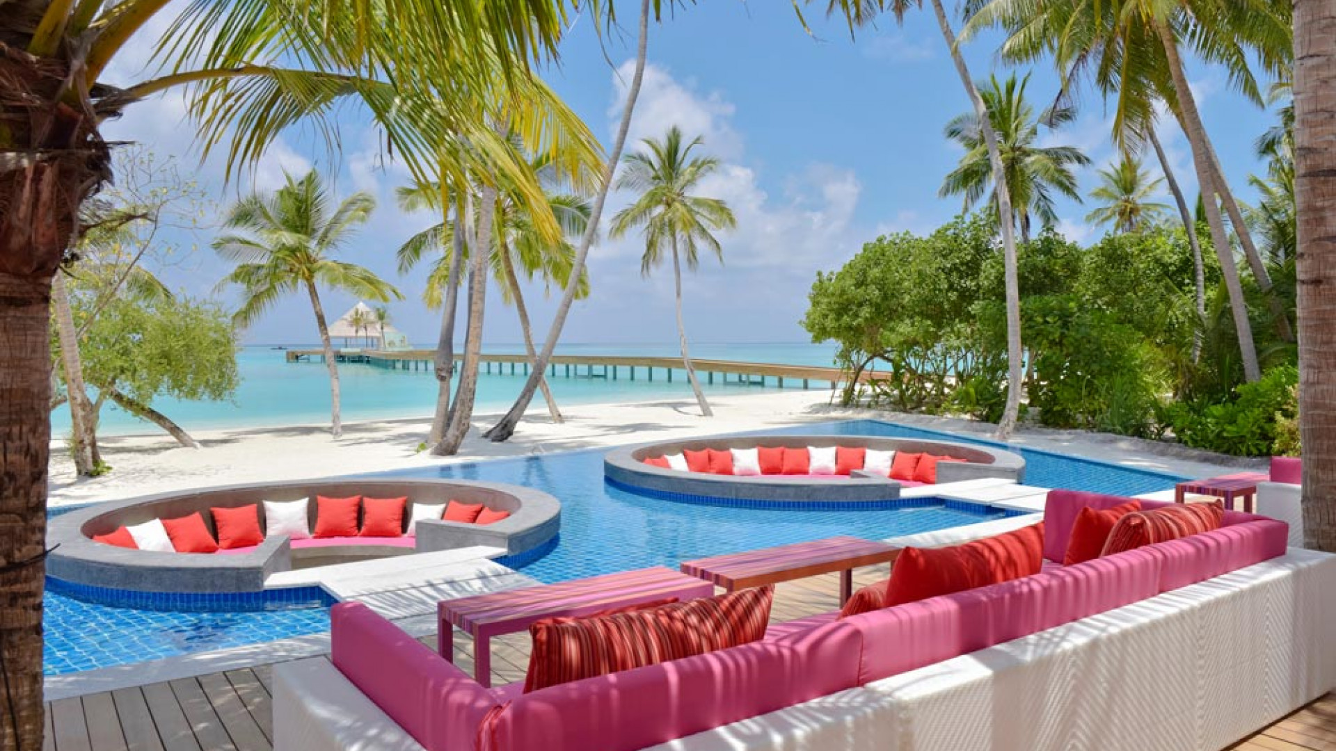 Outdoor pool at Kandima Maldives