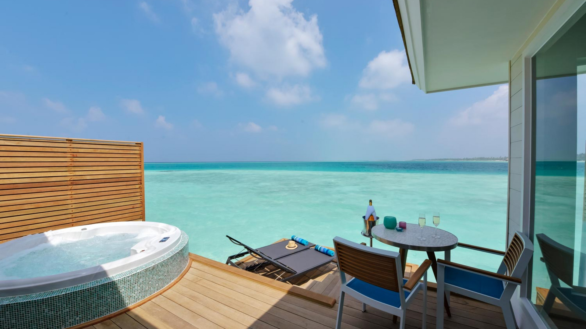 View from deck at Kandima Maldives