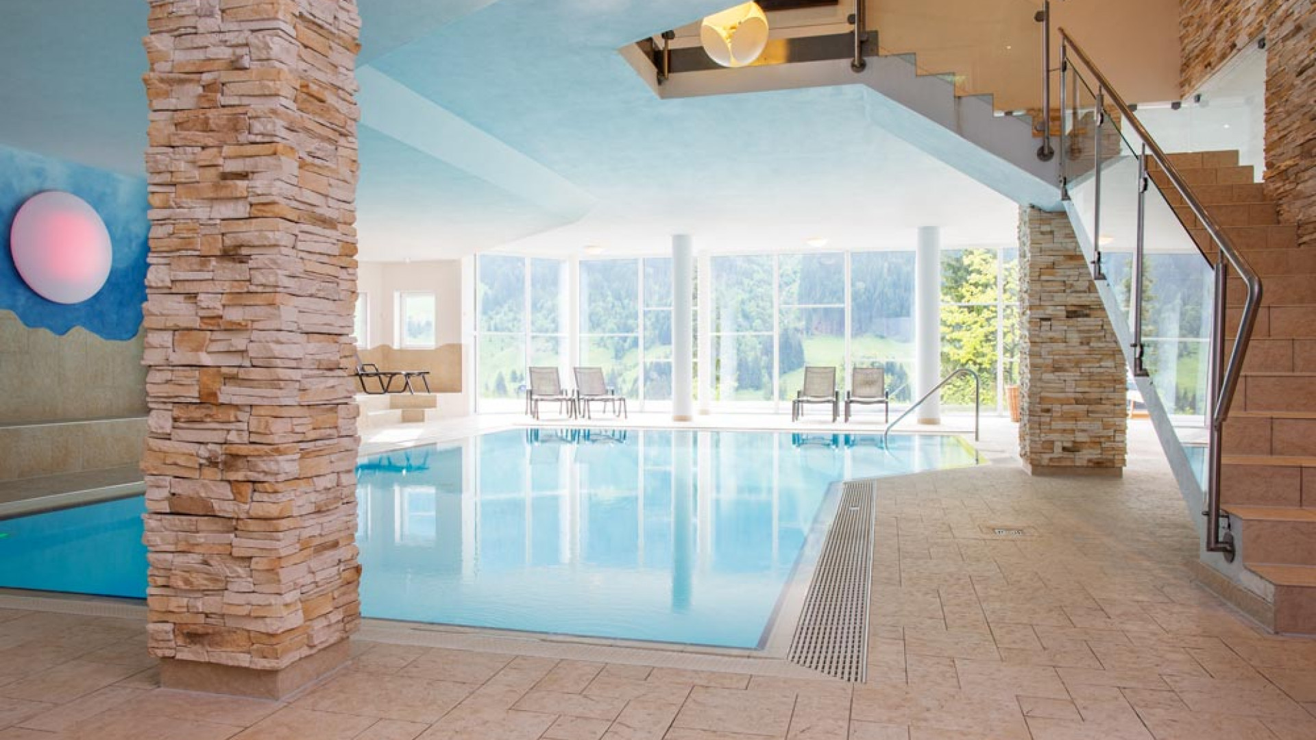 Swimming pool at Alphotel, Austria