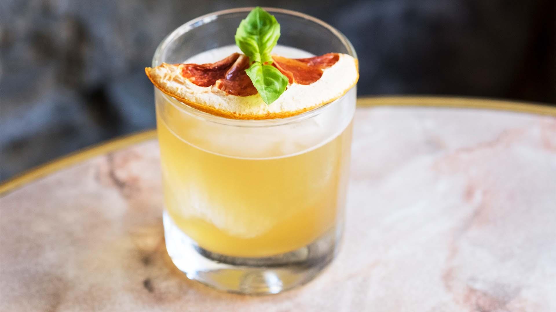 A cocktail at The Kelvingrove Café
