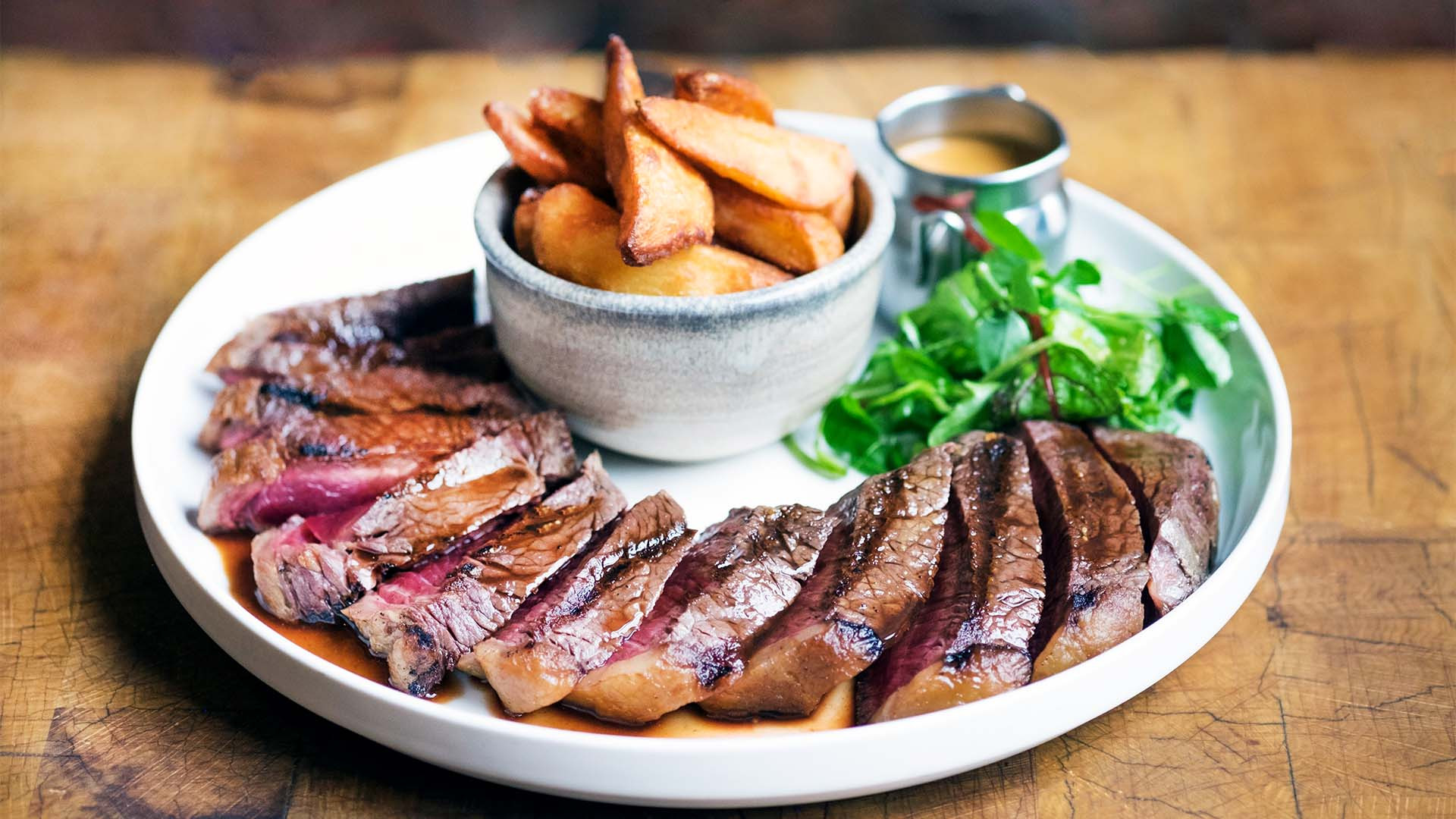 Steak and chips at Porter & Rye, Glasgow