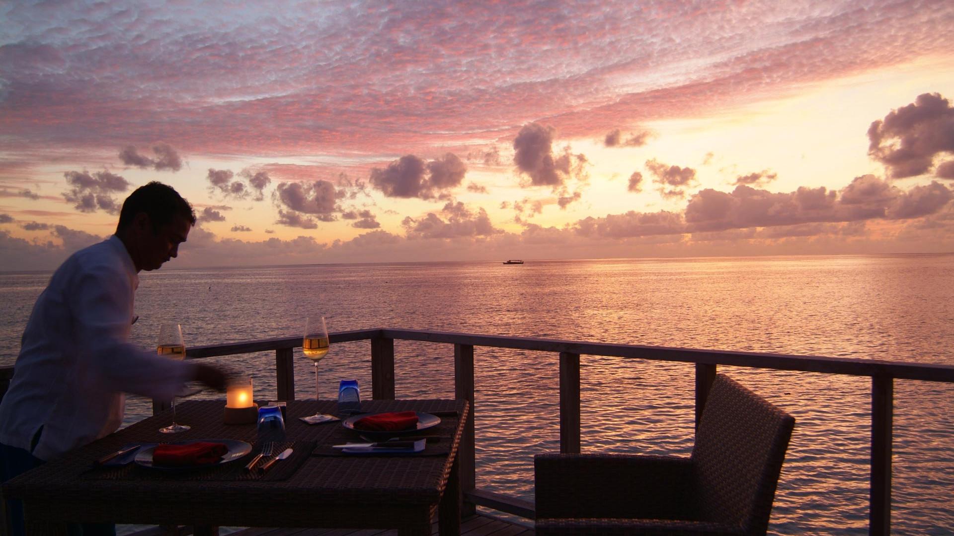 Dining at Coco Bodu Hithi Maldives