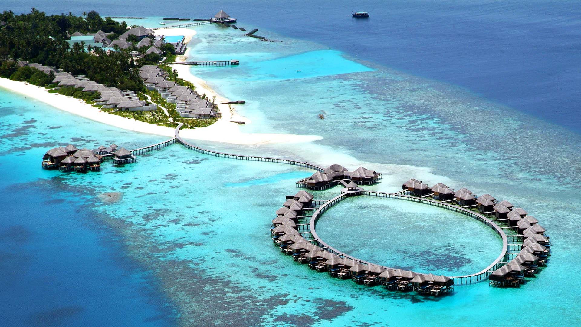 Aerial view of Coco Bodu Hithi Maldives