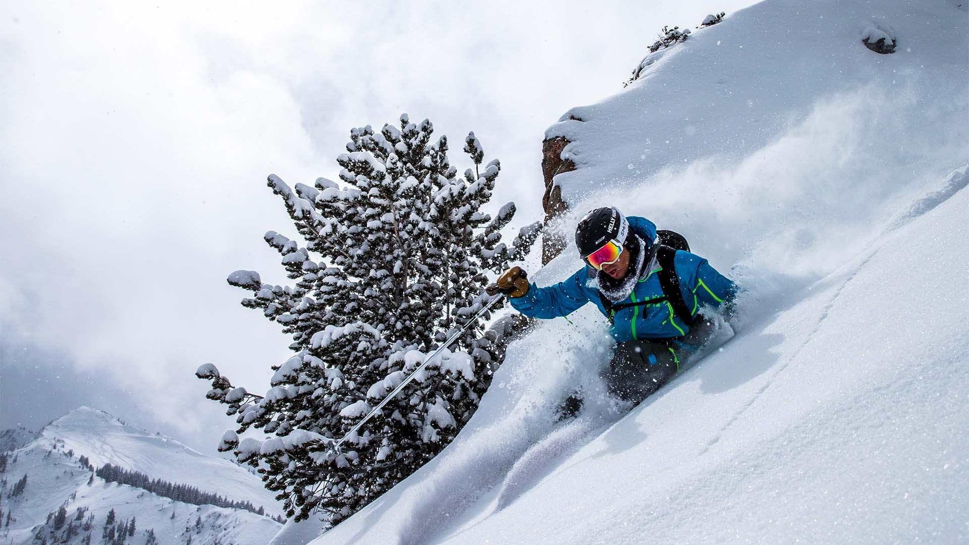 Skiing at Solitude Mountain Resort, Utah, USA