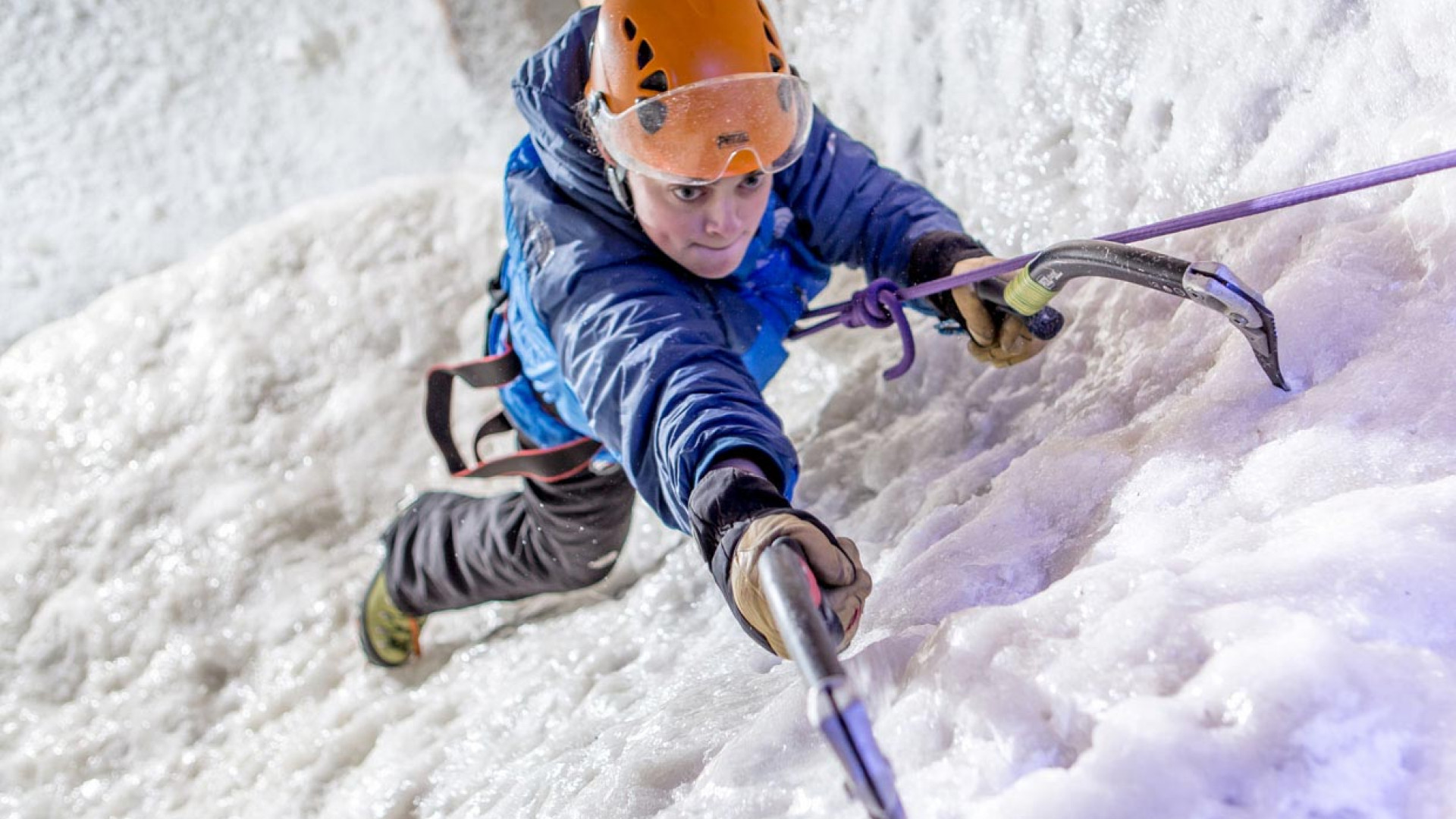Ice climbing in Covent Garden, London