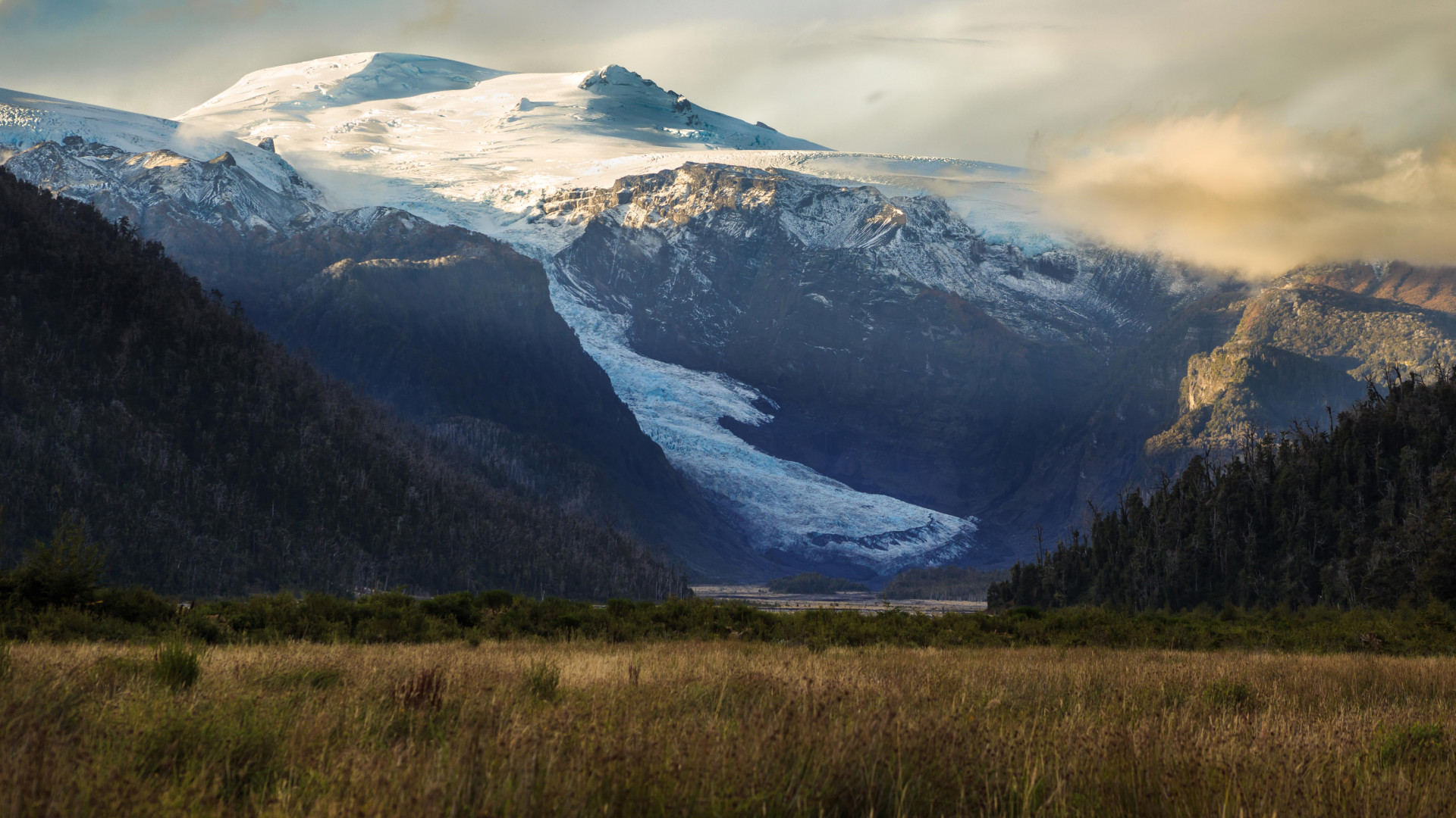 A glacier in Chilean Patagonia, now accessible in the country's new trail of parks